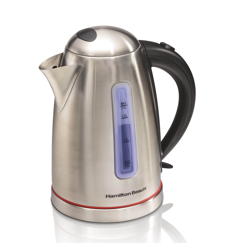Stainless Electric Kettle ~ Hamilton beach qt stainless steel electric tea kettle