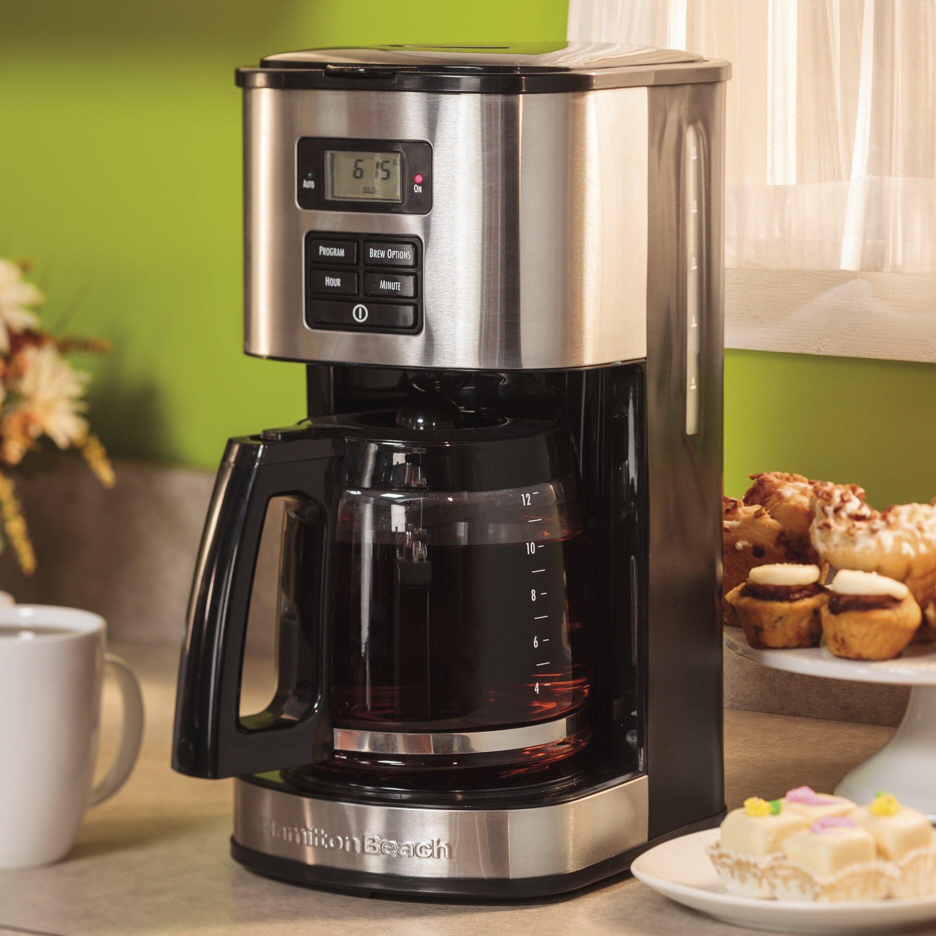 Hamilton Beach 12 Cup Stainless Steel Coffee Maker & Reviews Wayfair