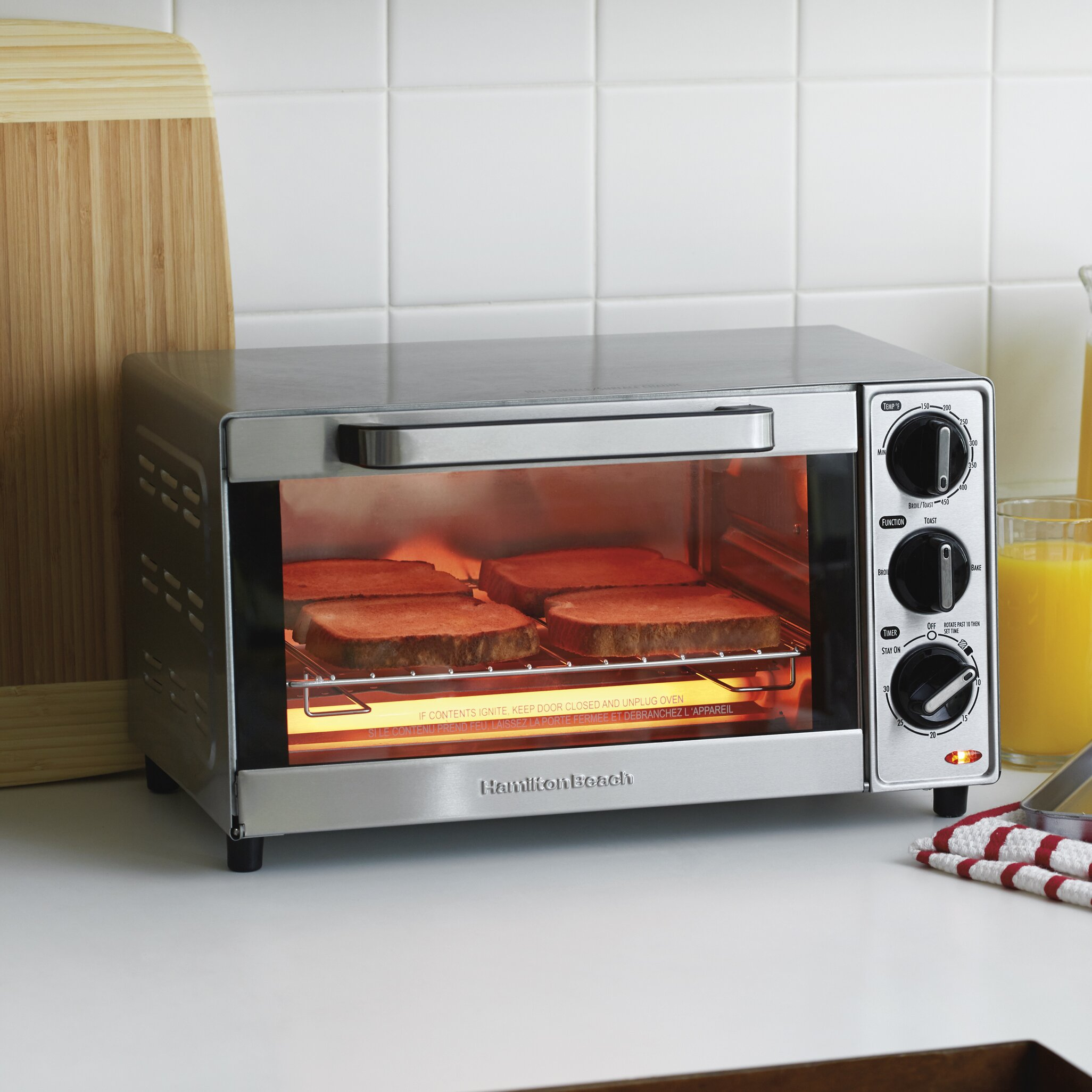 Hamilton Beach 4 Slice Toaster Oven Amp Reviews Wayfair