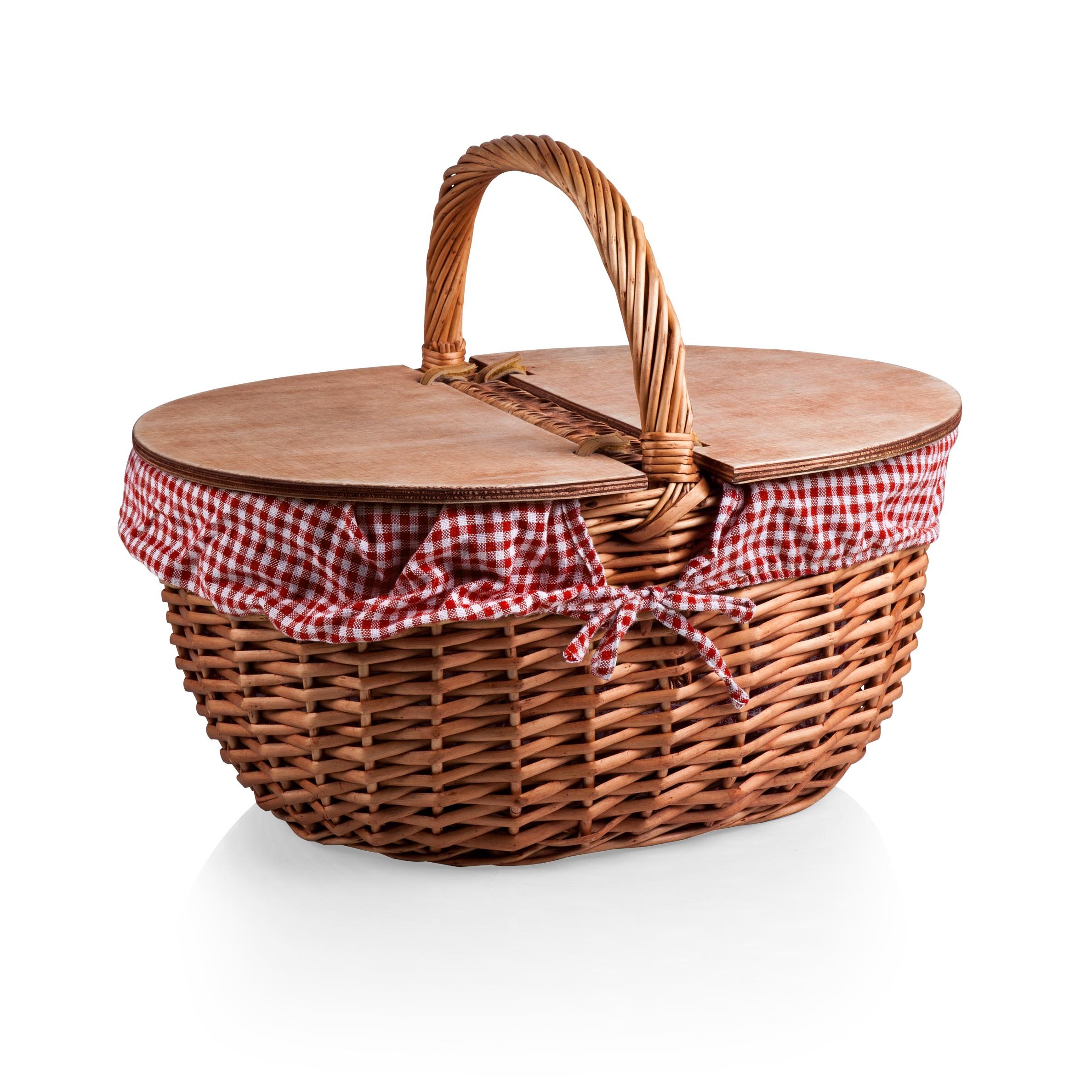Red Dining Rooms Picnic Time Country Picnic Basket Amp Reviews Wayfair