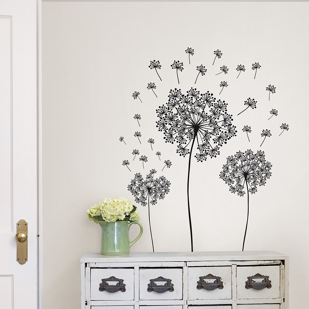 Wallpops wall art kit dandelion small wall decal for Small wall art