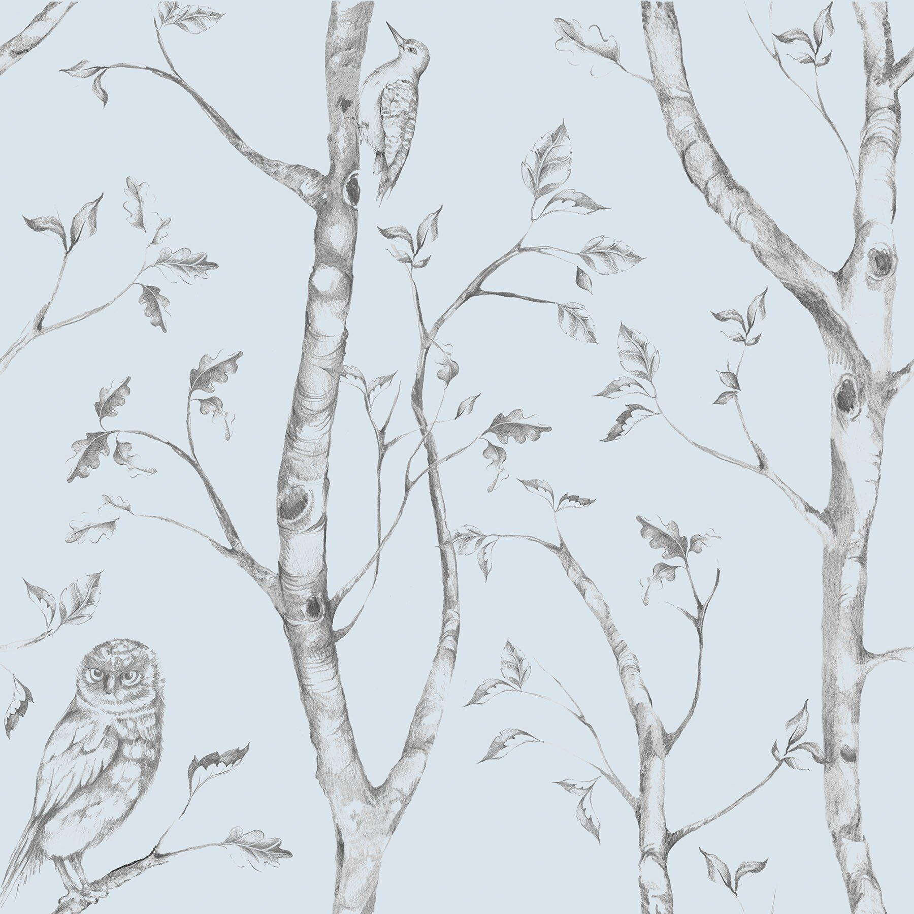 WallPops! Blue Woods Peel And Stick Wallpaper & Reviews ...