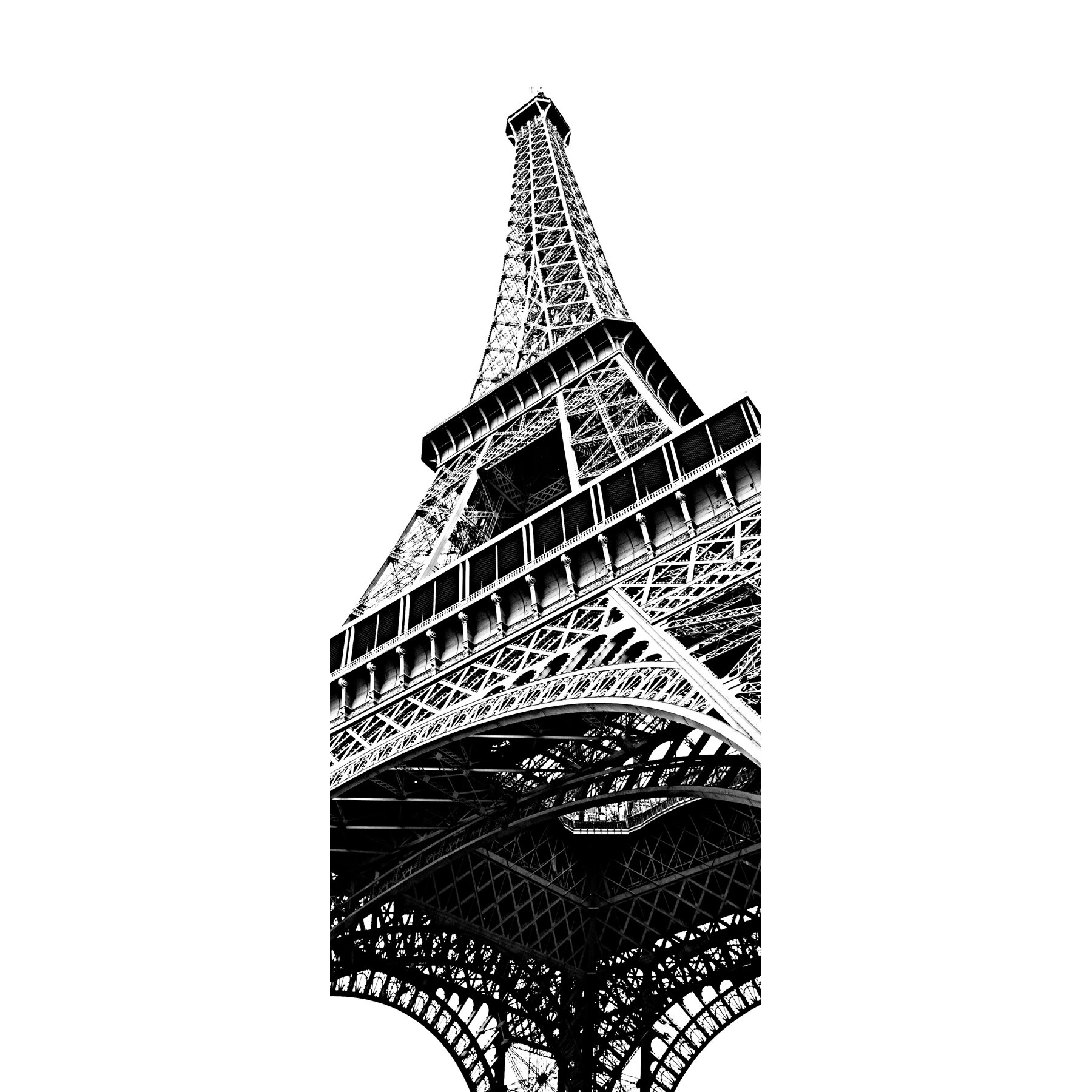 wallpops paris tour eiffel door decal reviews wayfair. Black Bedroom Furniture Sets. Home Design Ideas
