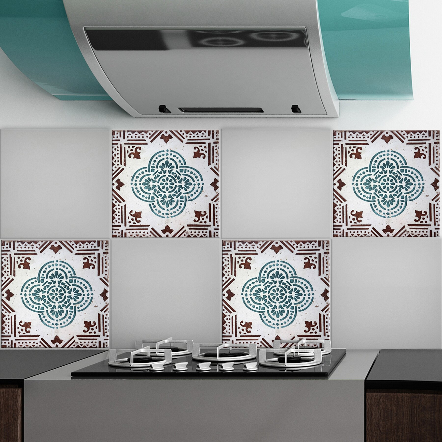 Wallpops water peel and stick tiles wall decal reviews for Peel and stick wallpaper squares