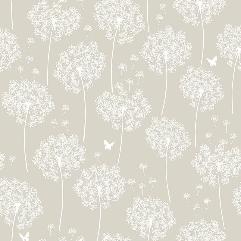 wallpops dandelion taupe peel and stick wallpaper reviews wayfair