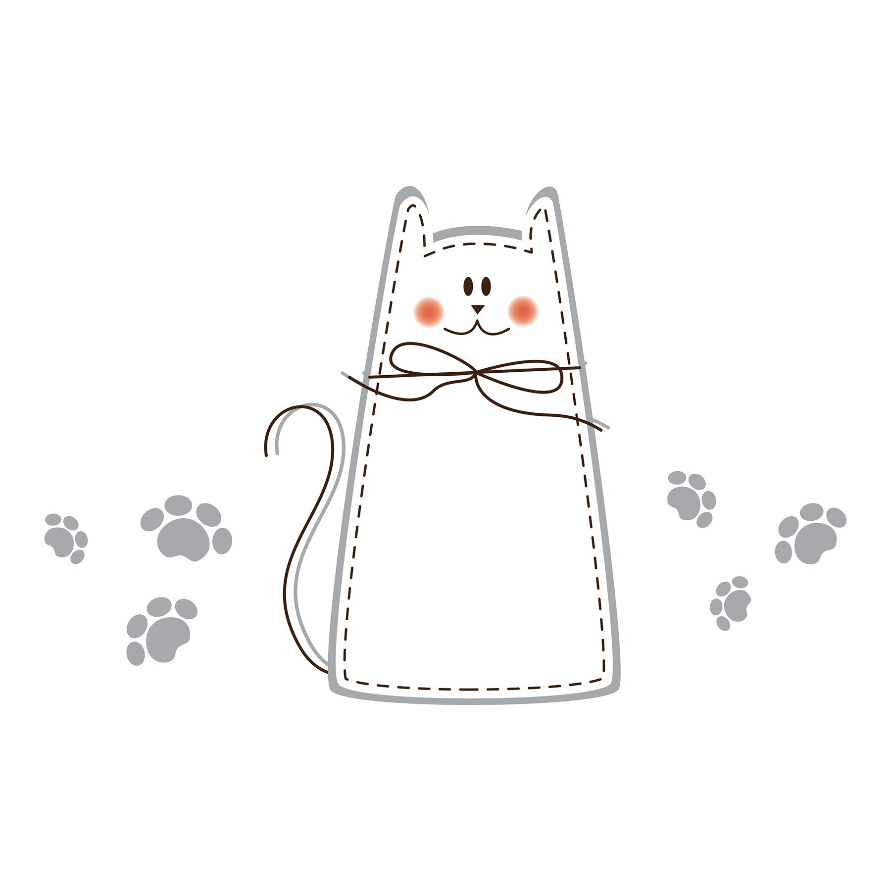 Wallpops home decor line cat whiteboard wall decal Home decor line wall stickers