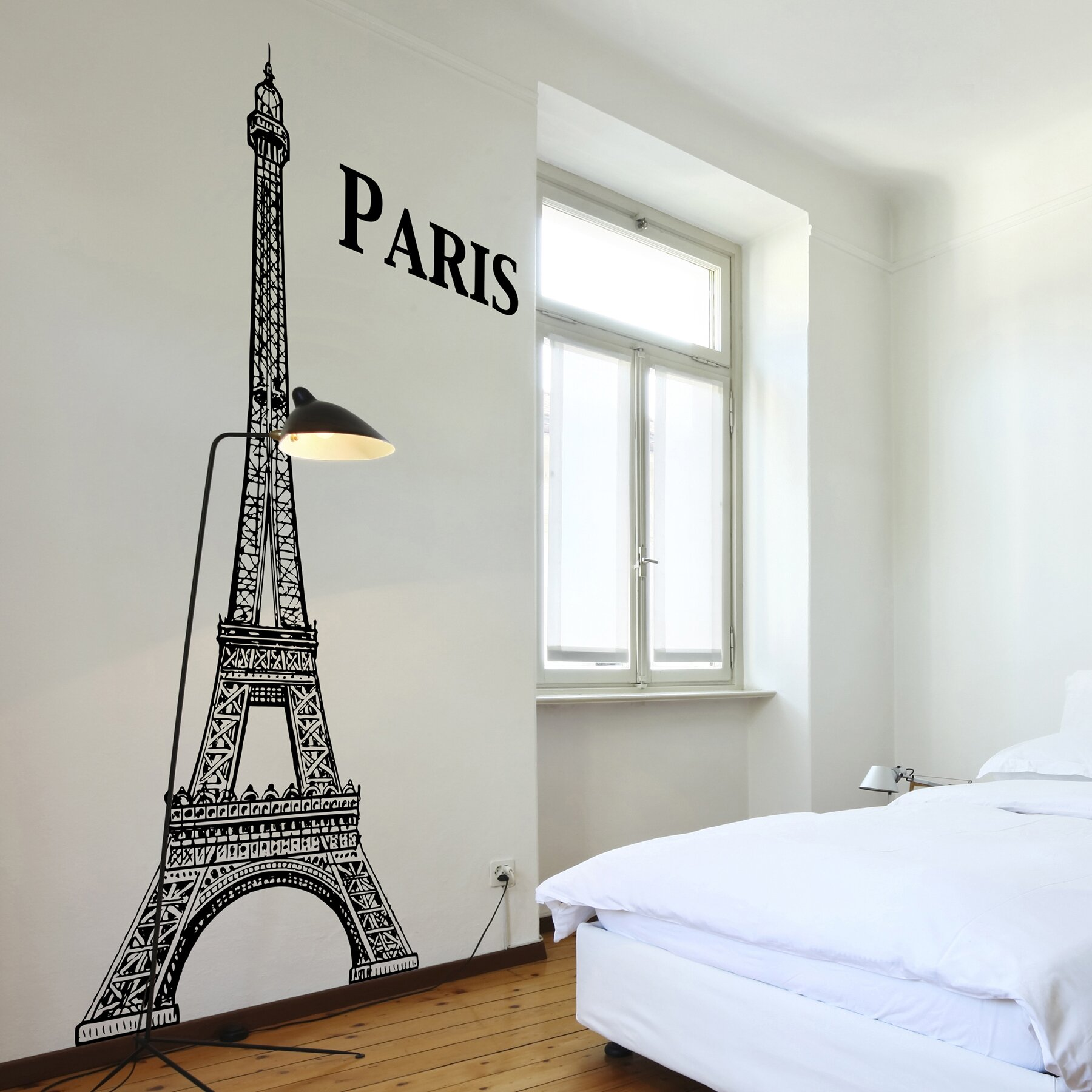 Wallpops home decor line eiffel tower wall decal wayfair for Eiffel tower decorations for the home