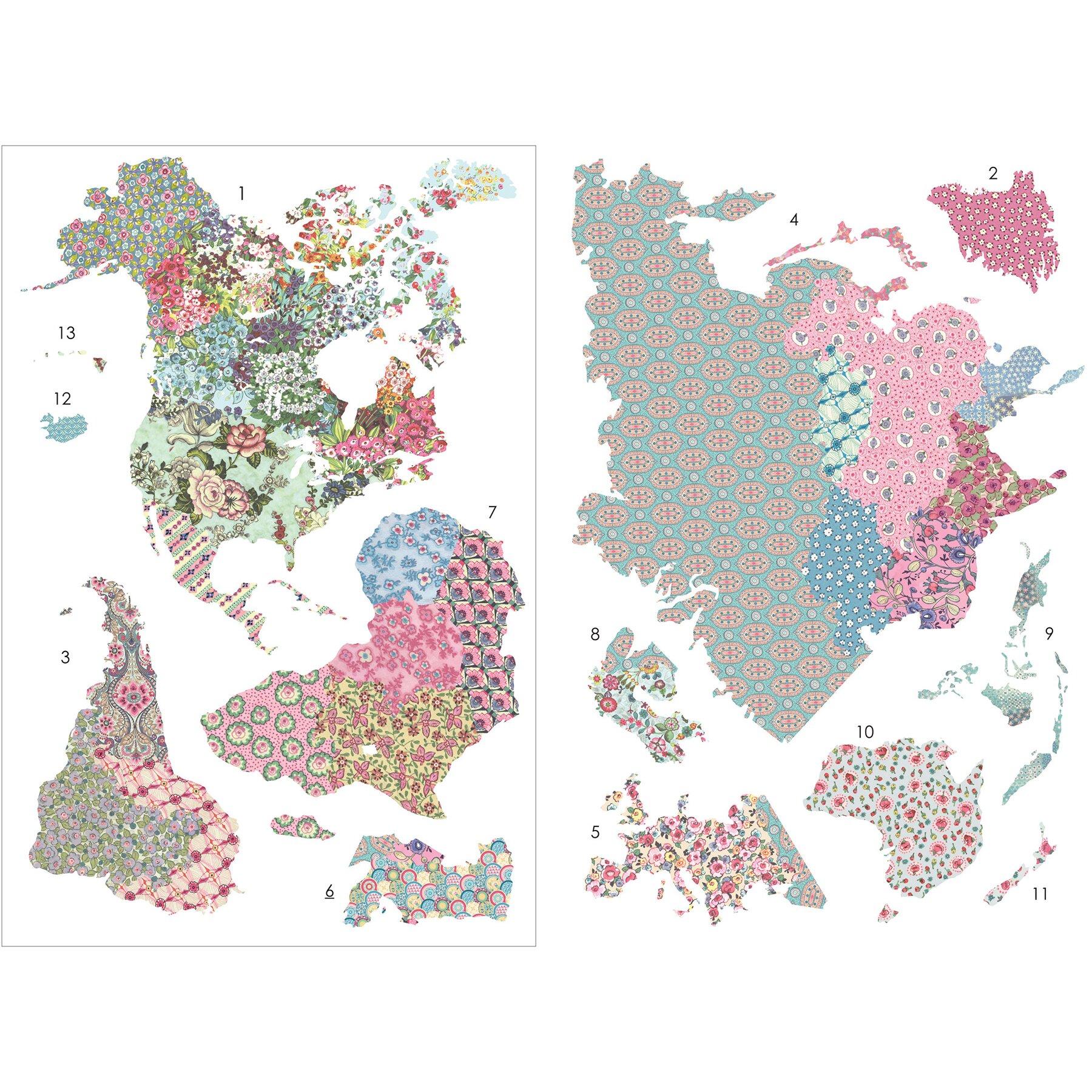 Wallpops Boho World Map Wall Decal Reviews Wayfair