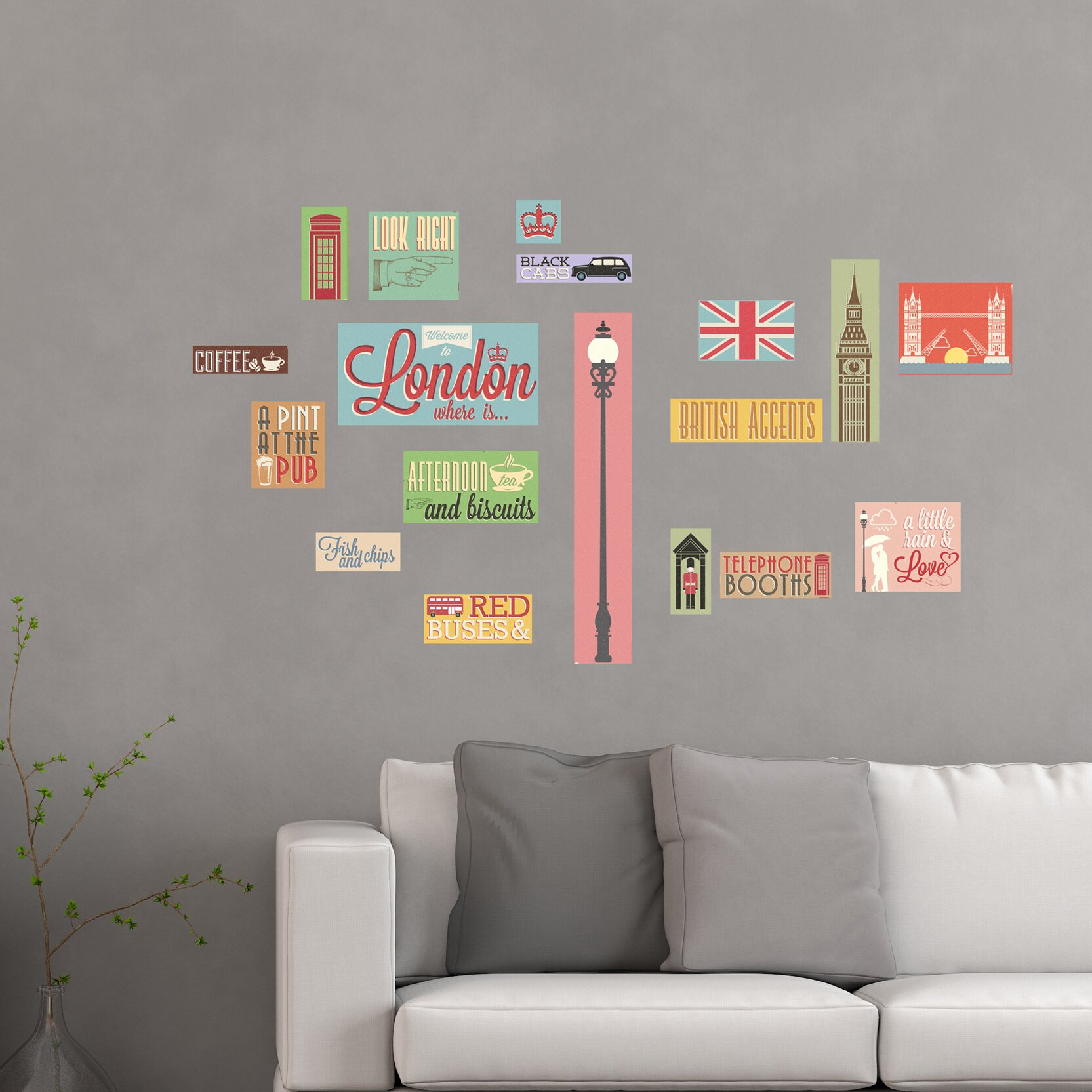 Wallpops Home Decor Line London Icons Wall Decal Wayfair