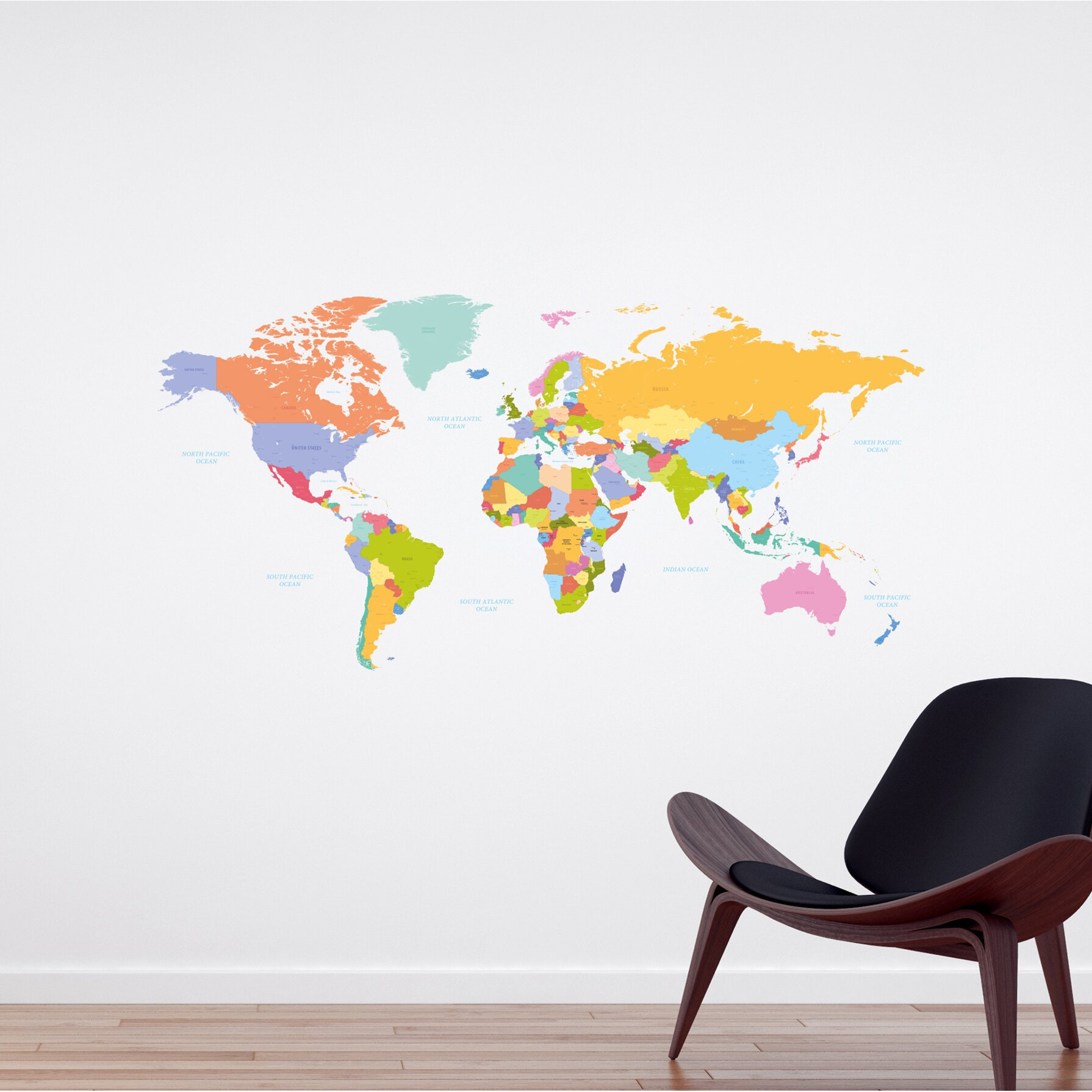 wallpops home decor line colorful map wall decal reviews wayfair