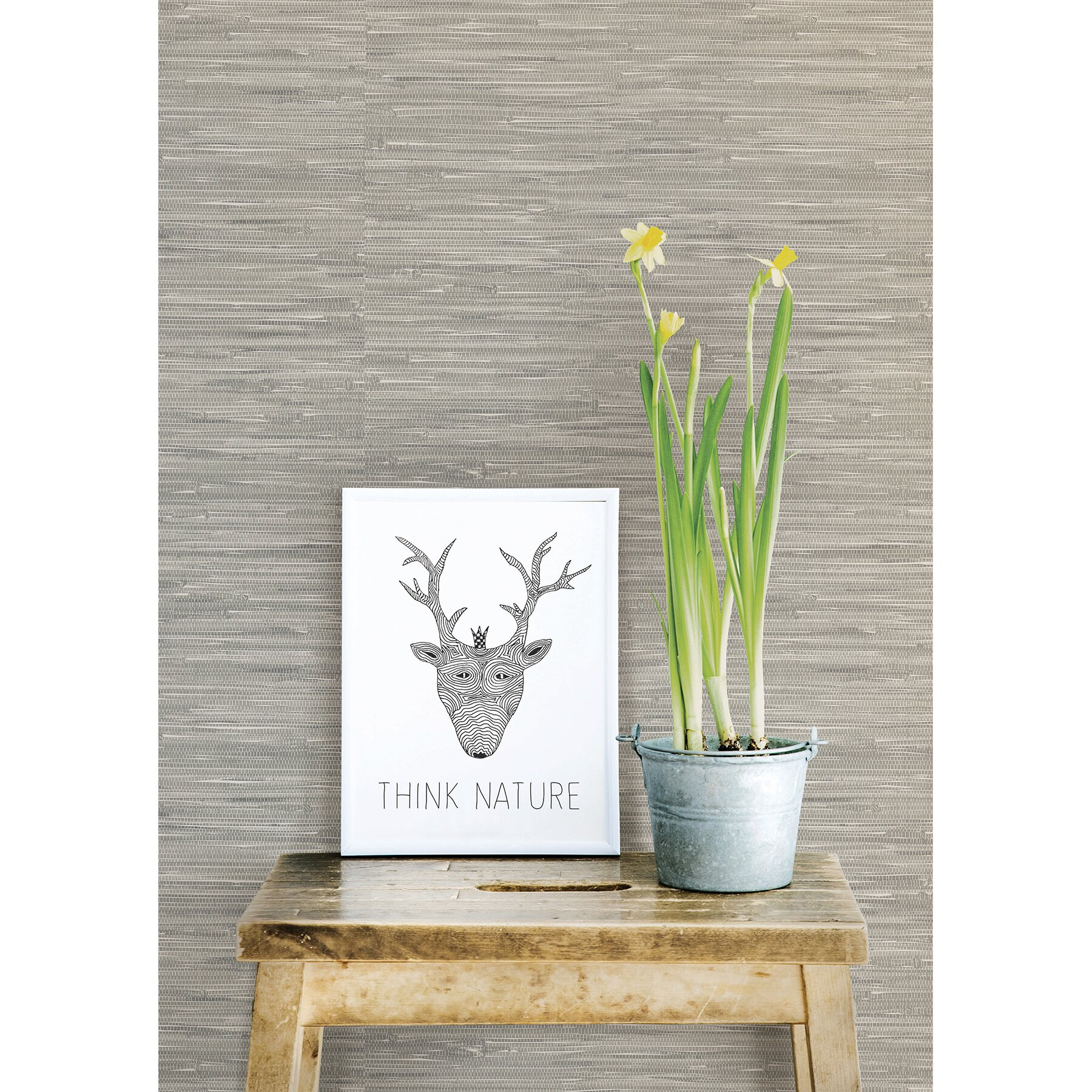 Wallpops 18 39 x 20 5 tibetan grasscloth peel and stick for Self stick grasscloth wallpaper