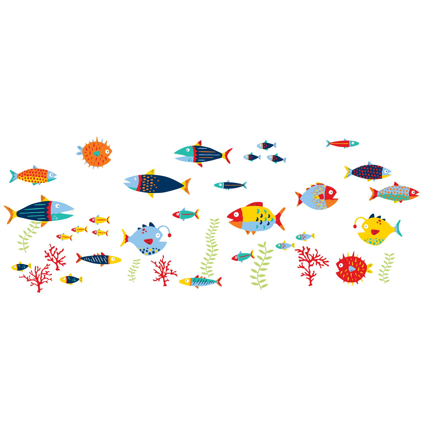 Wall Art Stickers Next Day Delivery : Wallpops wall art kit fish tales decal reviews