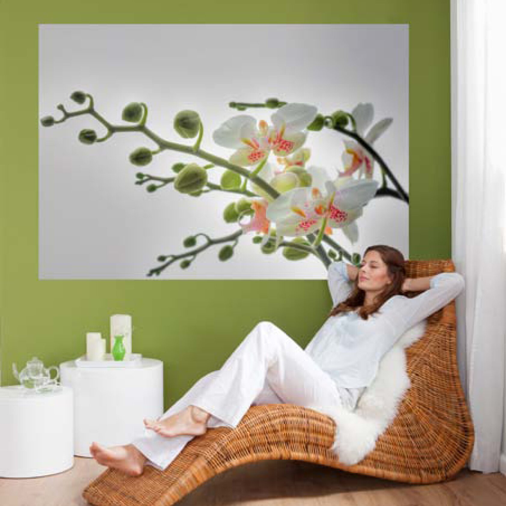 Brewster home fashions komar orchidee wall mural reviews for Brewster home fashions wall mural
