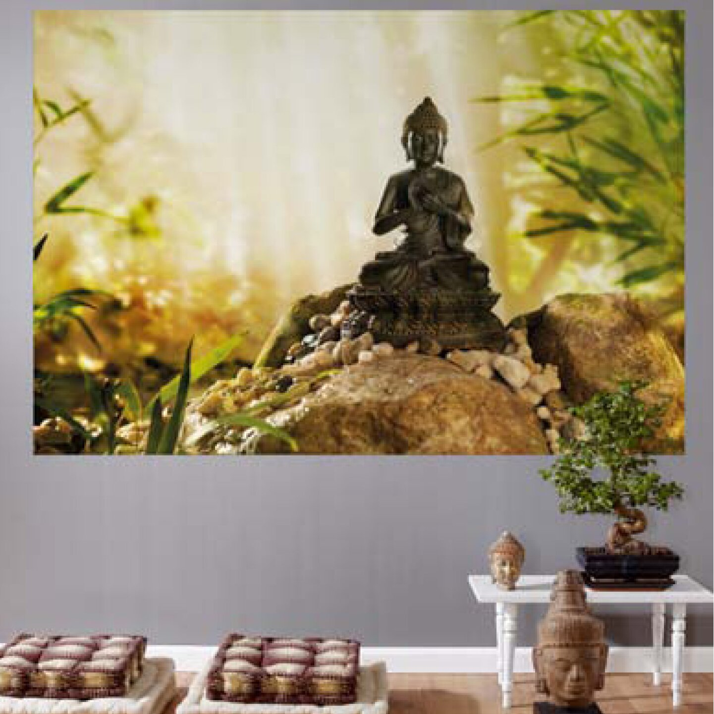 Brewster home fashions komar buddha wall mural reviews for Brewster birch wall mural