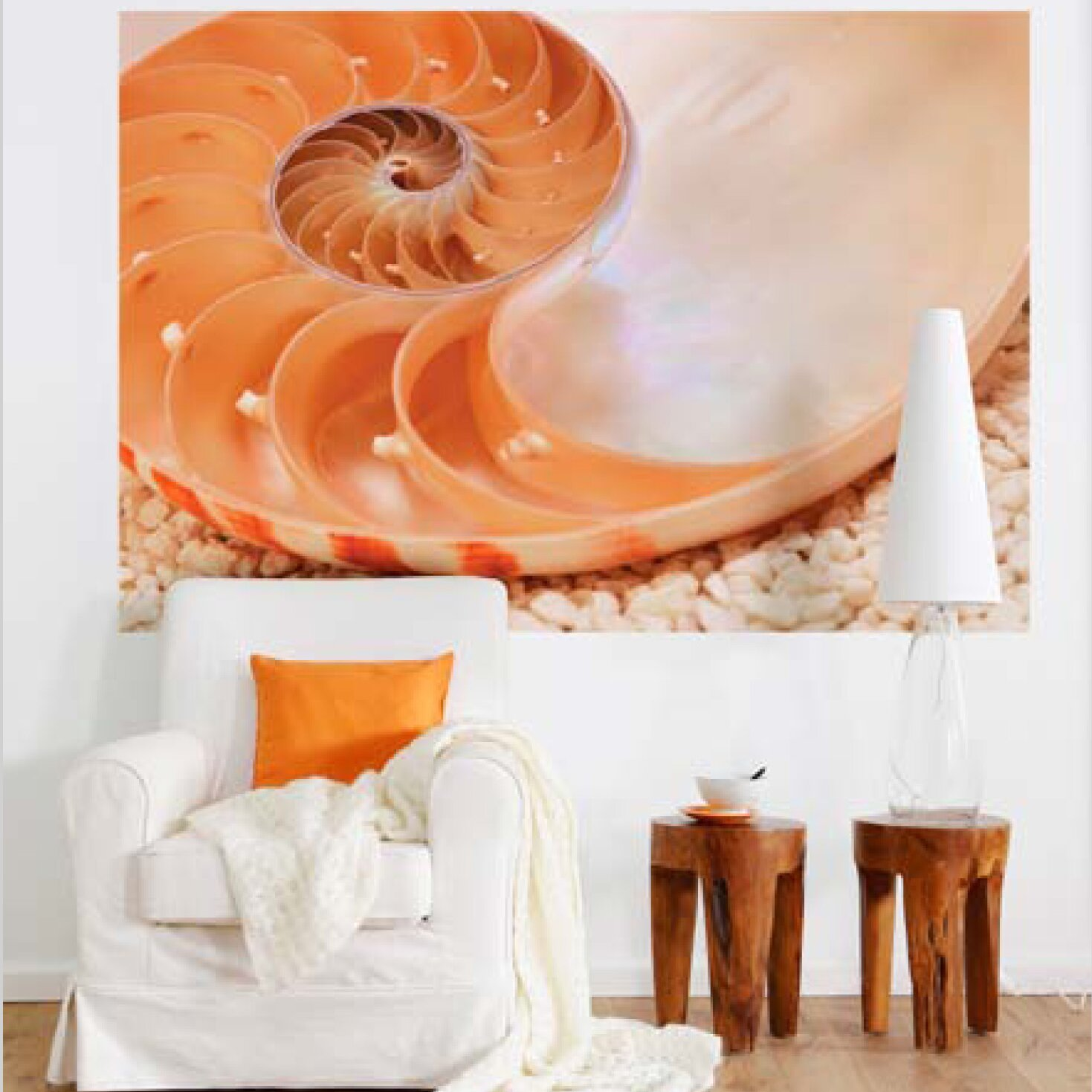 Brewster home fashions komar nautilus wall mural wayfair for Brewster home fashions komar wall mural