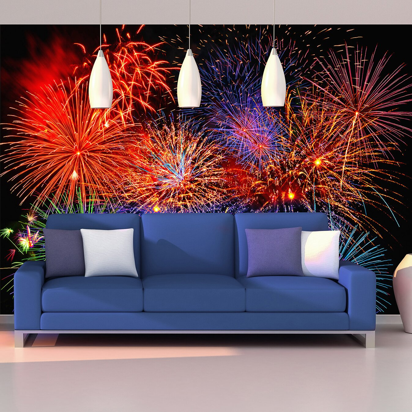 Brewster home fashions ideal d cor fireworks wall mural for Brewster home fashions wall mural