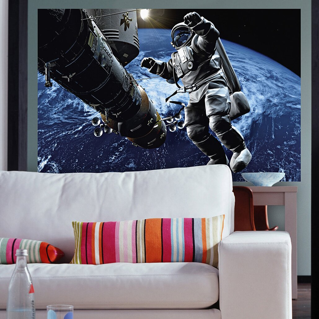 Brewster home fashions ideal d cor space cowboy wall mural for Cowboy wall mural