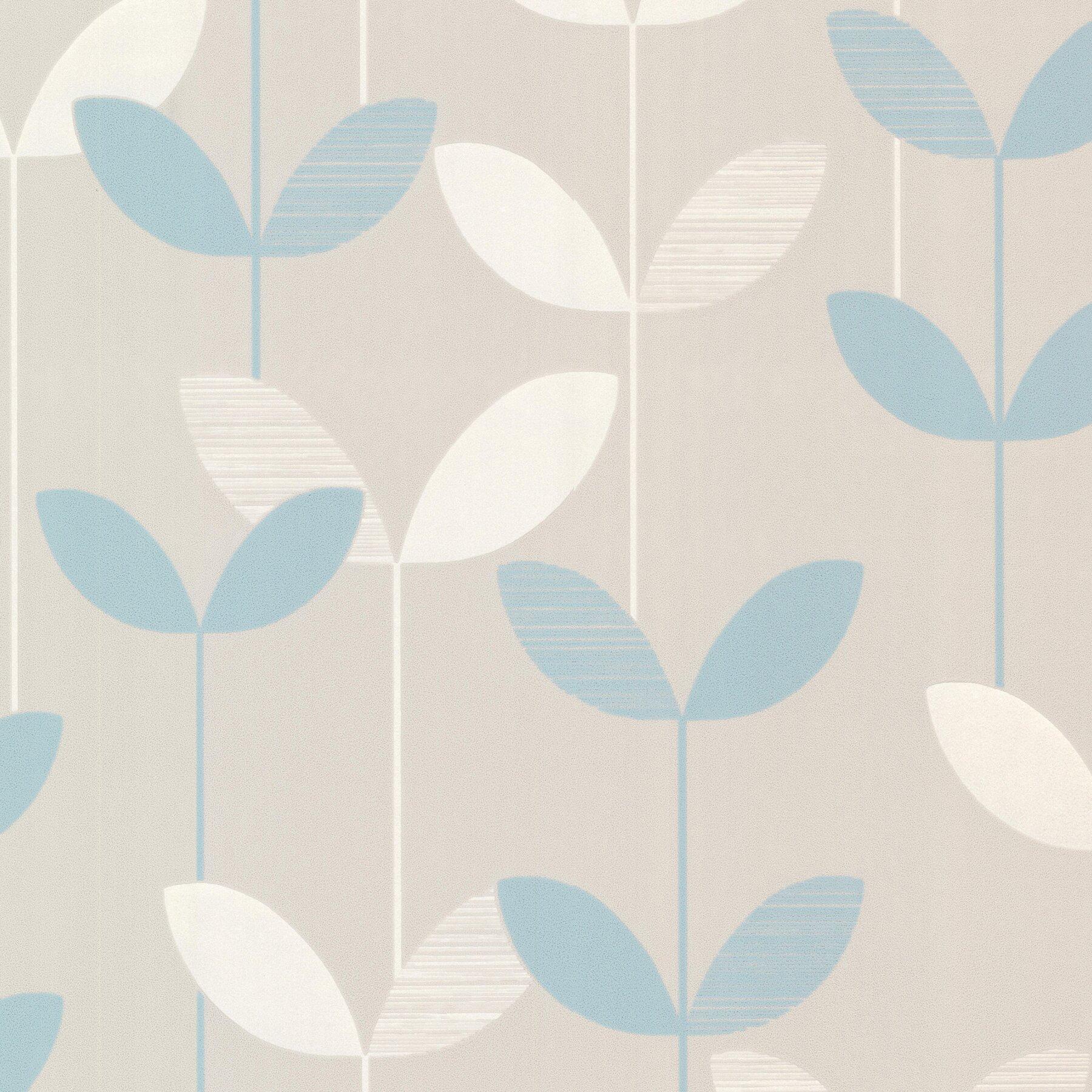 Brewster home fashions elements ernst linear leaf 33 39 x 20 for 3d embossed wallpaper