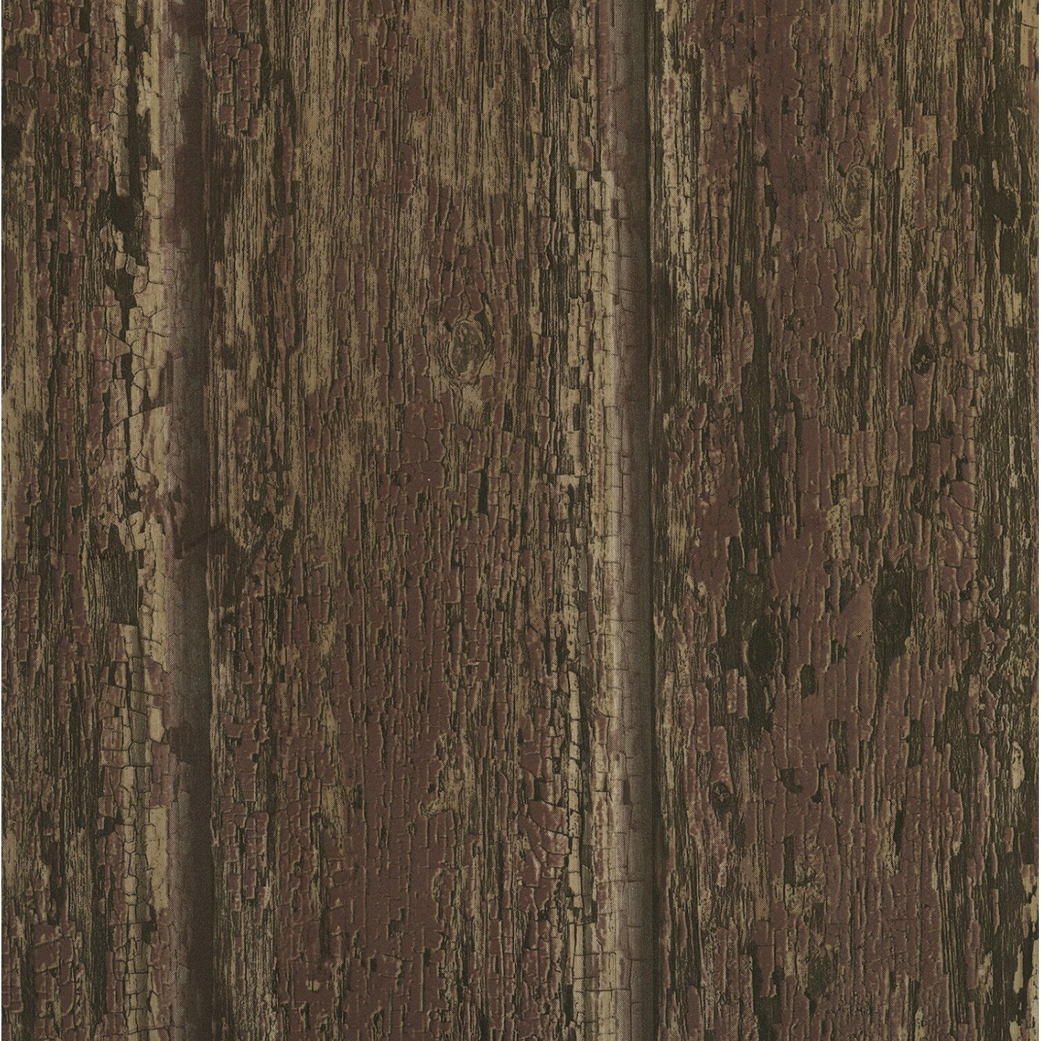 Brewster home fashions outdoors 33 39 x 20 5 abstract 3d - Faux wood plank wallpaper ...