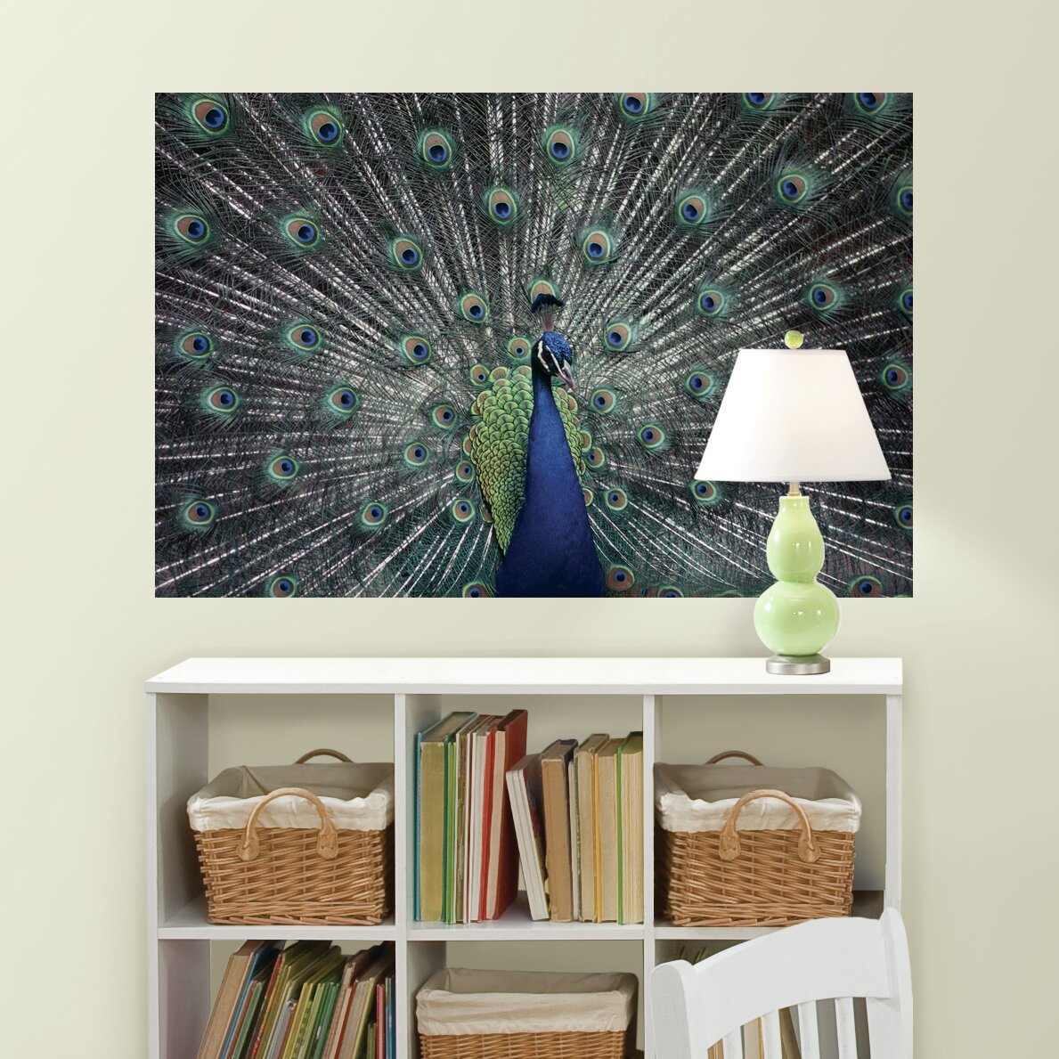 Brewster home fashions national geographic peacock wall for Brewster home fashions wall mural