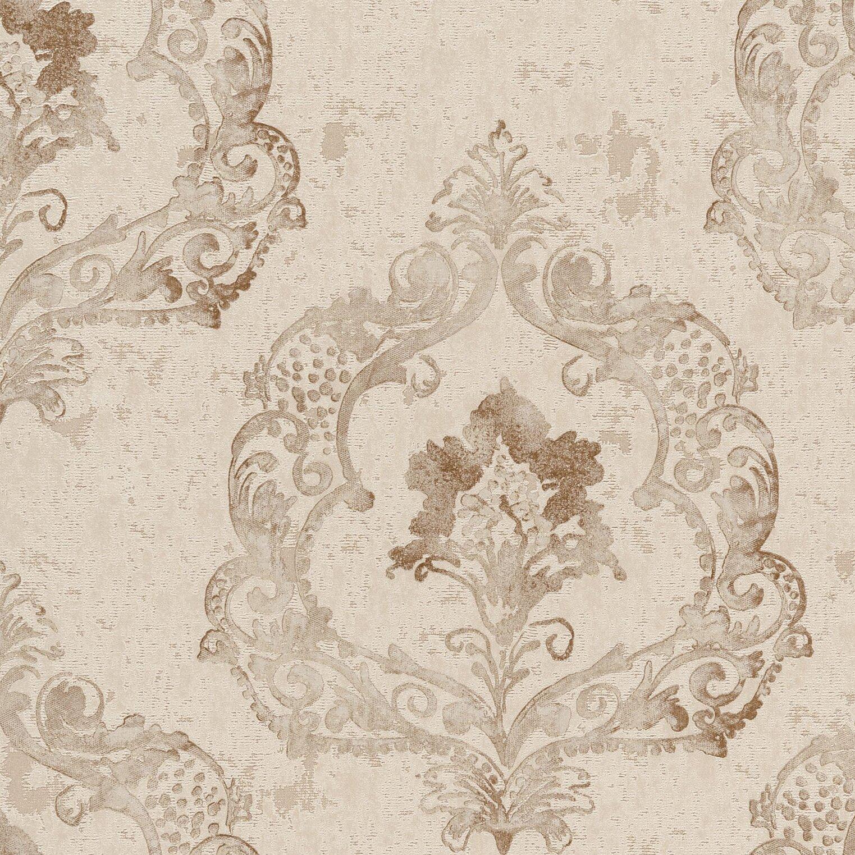 Brewster home fashions venezia luca crushed velvet 33 39 x for 3d embossed wallpaper