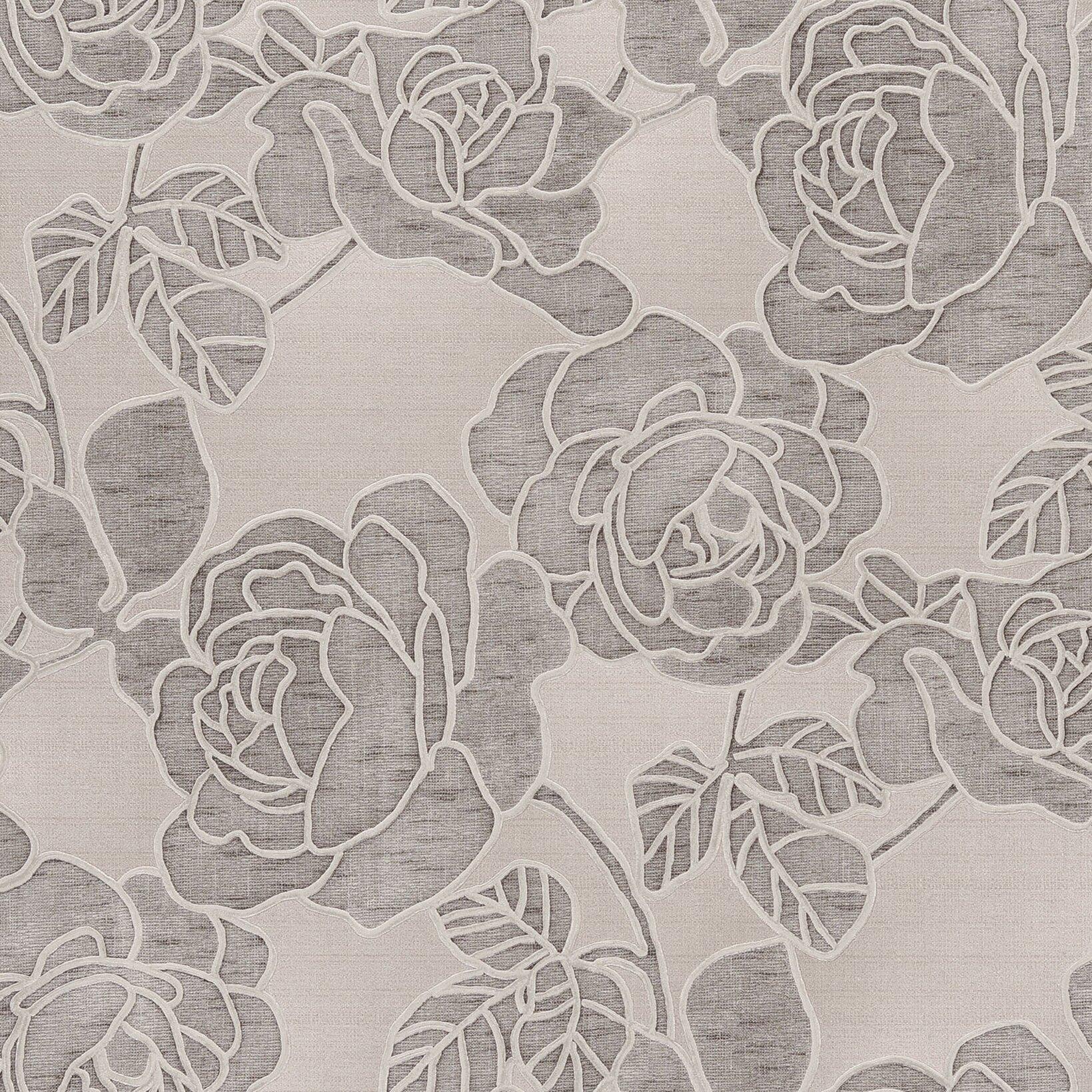 Brewster home fashions venezia sancia rosette weave 33 39 x for 3d embossed wallpaper