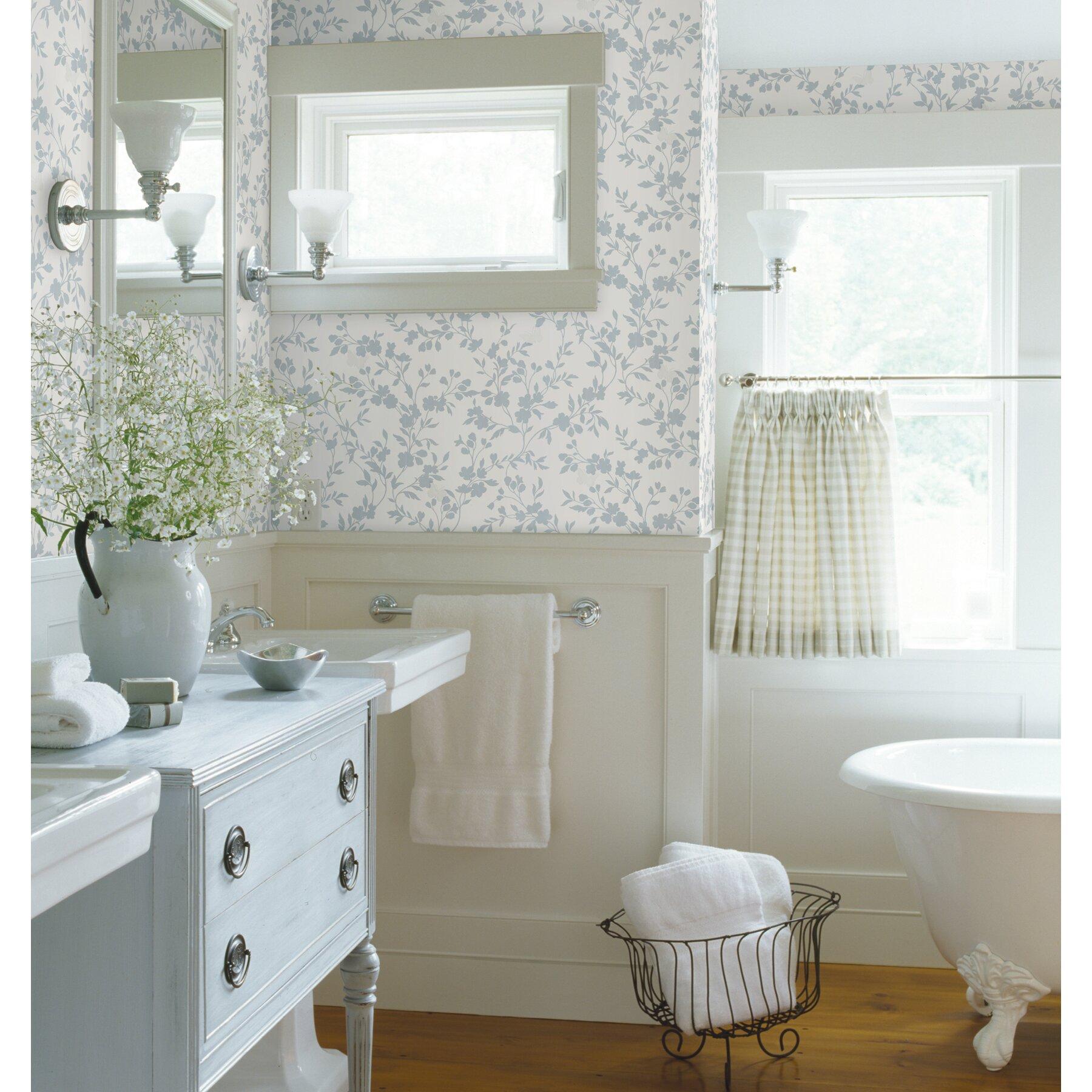 Brewster home fashions bath bath bath volume iv layla for Wayfair bathroom wallpaper