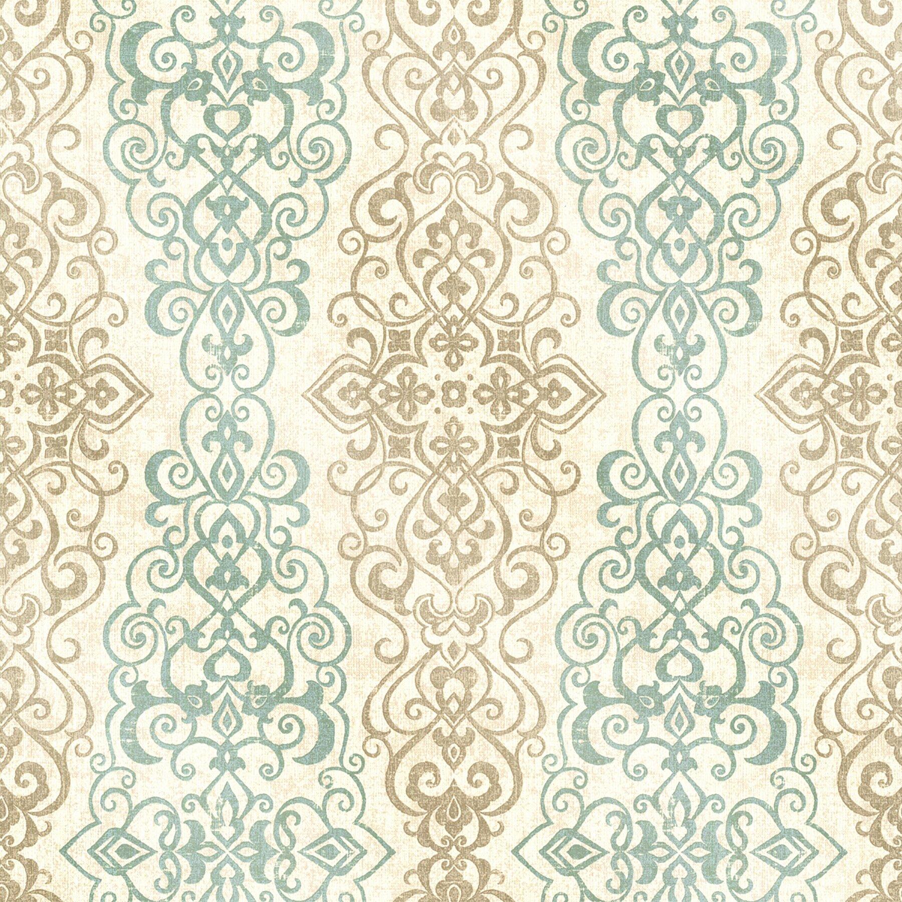 Brewster home fashions alhambra mexuar filigree 33 39 x 20 5 for 3d embossed wallpaper