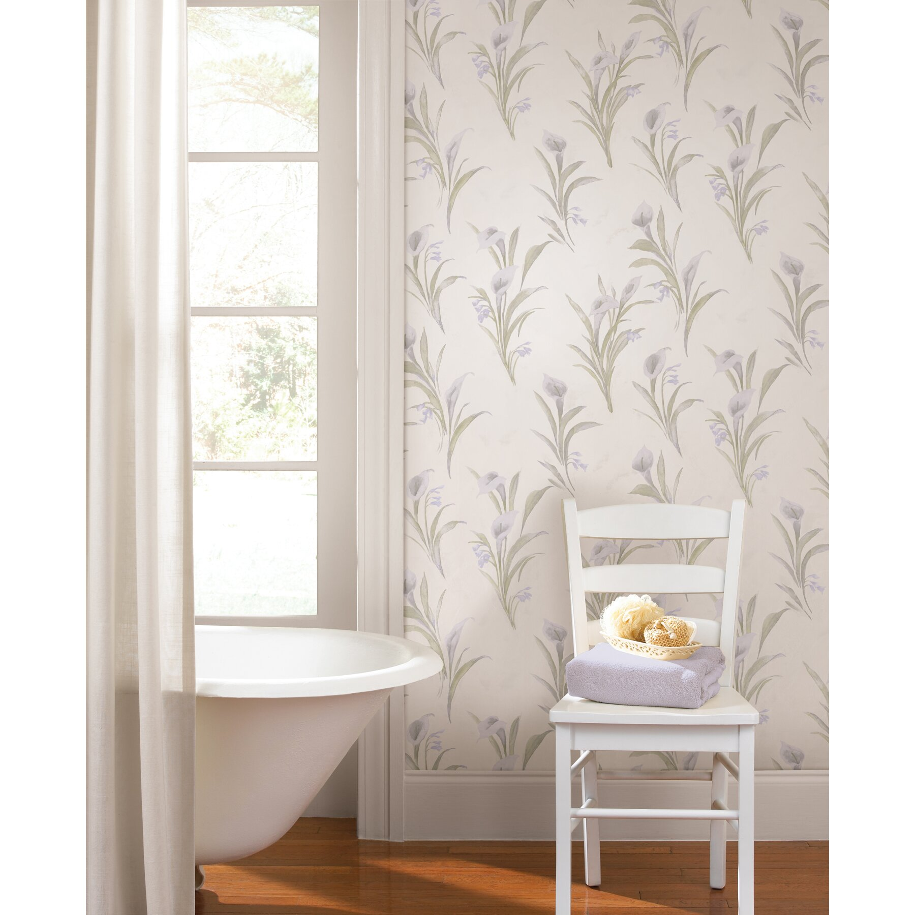 Brewster Home Fashions For Your Bath II Edith Satin Lily ...