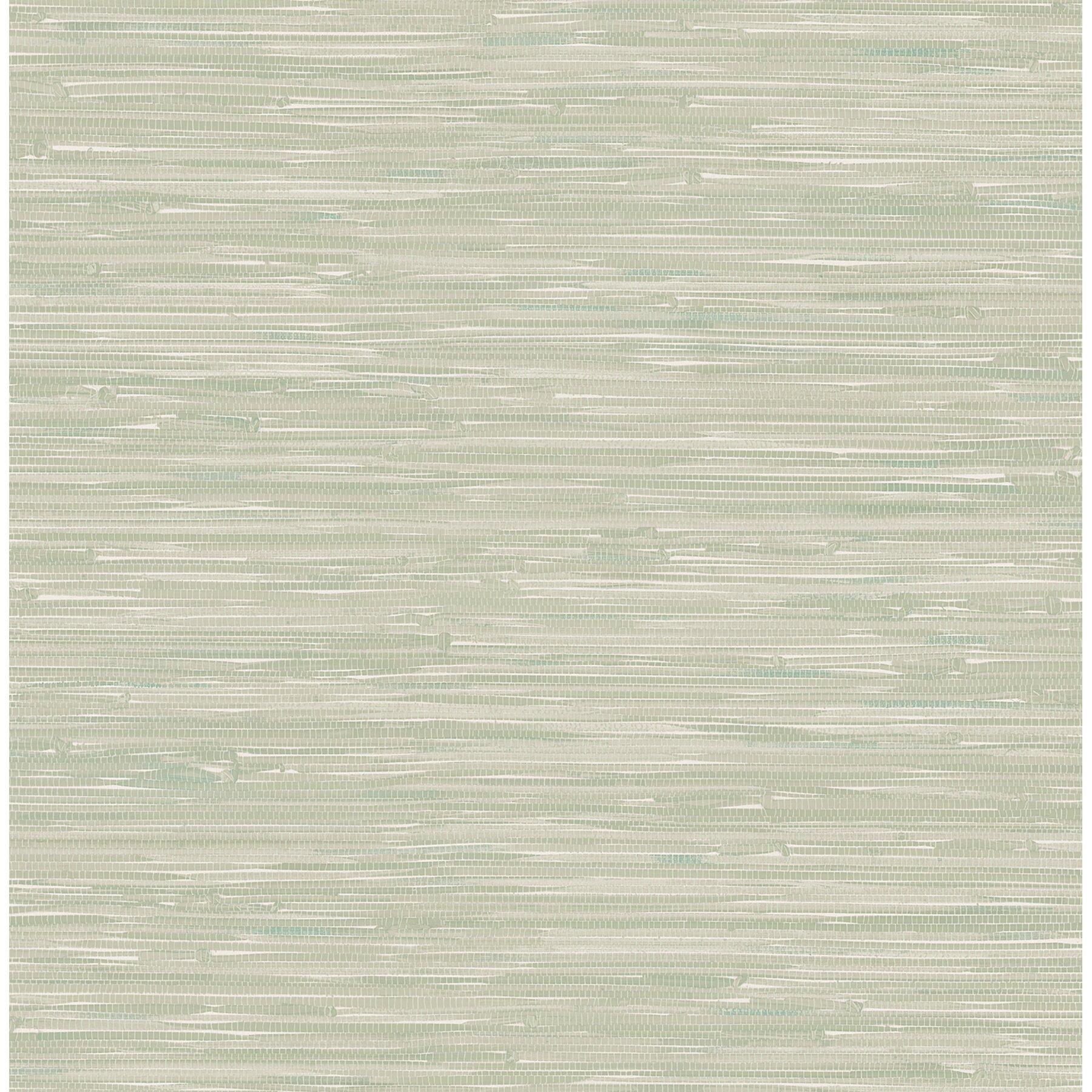 Modern Wallpaper Sage Green Metallic Faux Grasscloth: Brewster Home Fashions Ami Natalie Faux Grasscloth 33' X