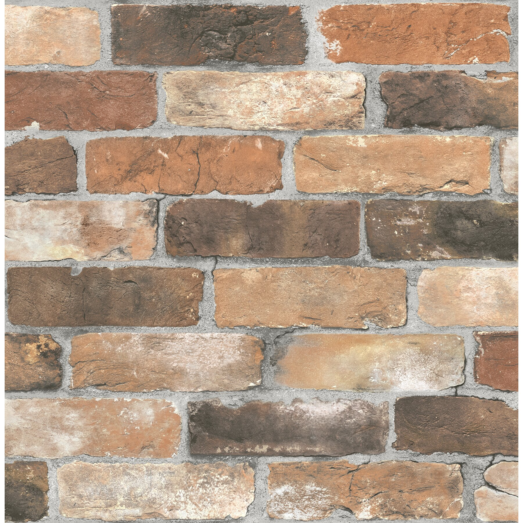 Brewster home fashions reclaimed rustic 2 39 x 20 5 brick for Brick wallpaper sale