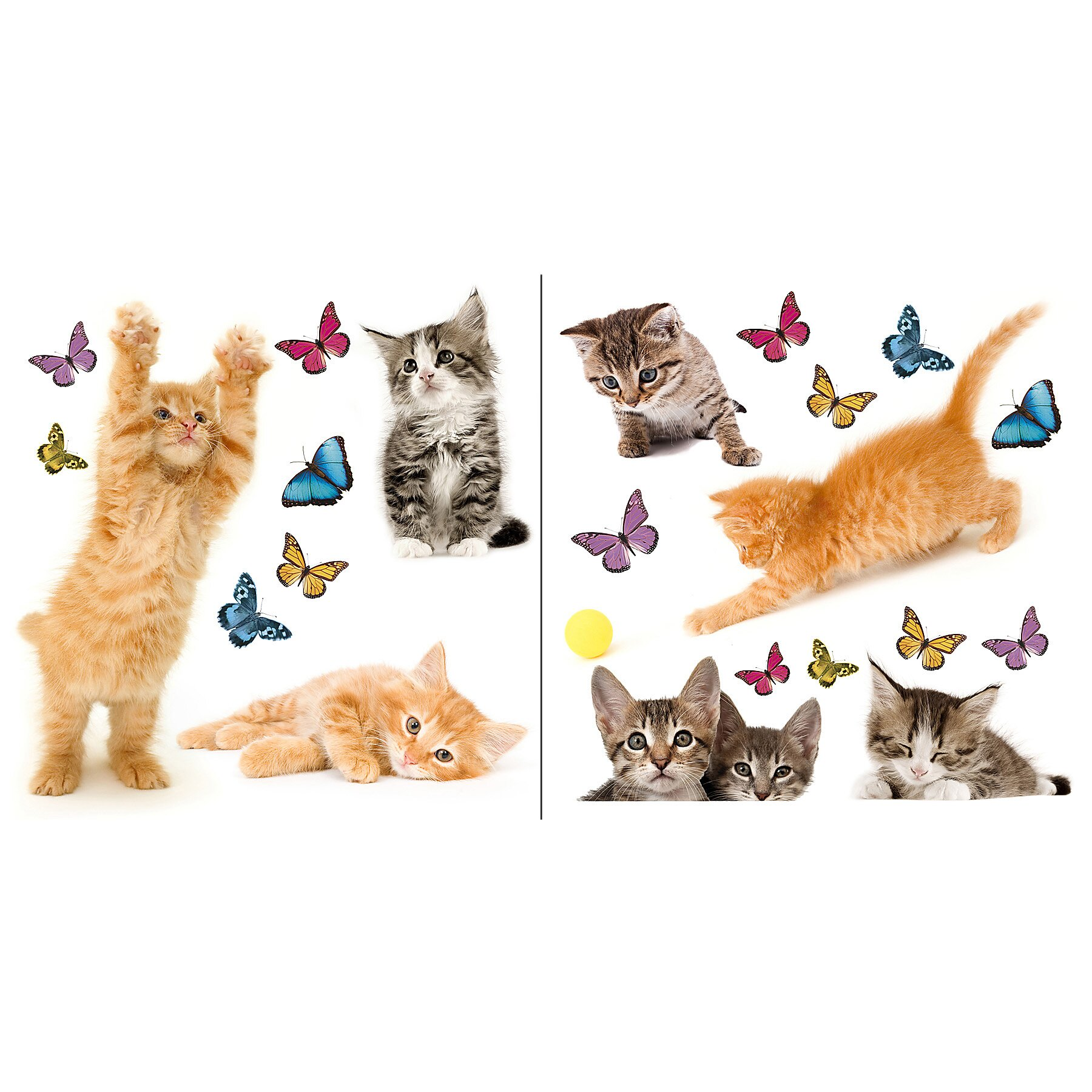 Brewster Home Fashions Euro Cats Window Sticker & Reviews