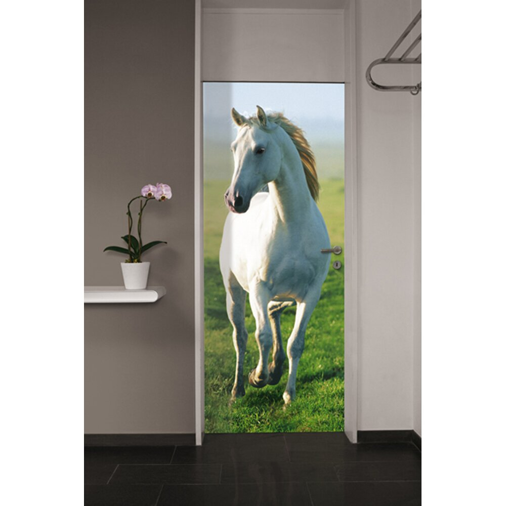 Brewster home fashions ideal decor horse wall mural for Horse decorations for home