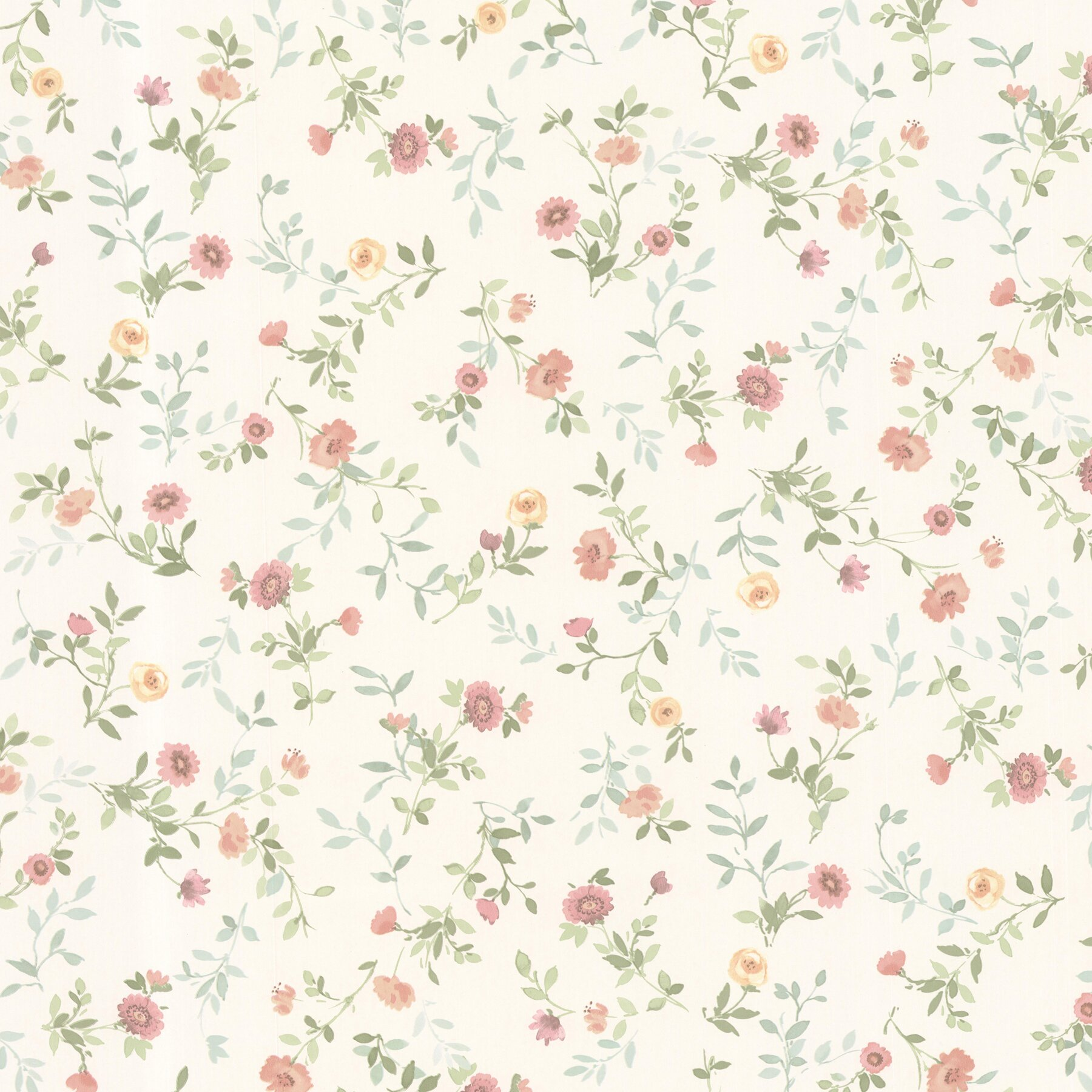 """Dollhouse Kitchen Wallpaper: Brewster Home Fashions Dollhouse Sophie 33' X 20.5"""" Floral"""