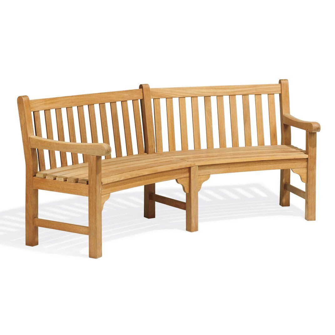 Oxford Garden Essex Curved Wood Garden Bench Reviews Wayfair