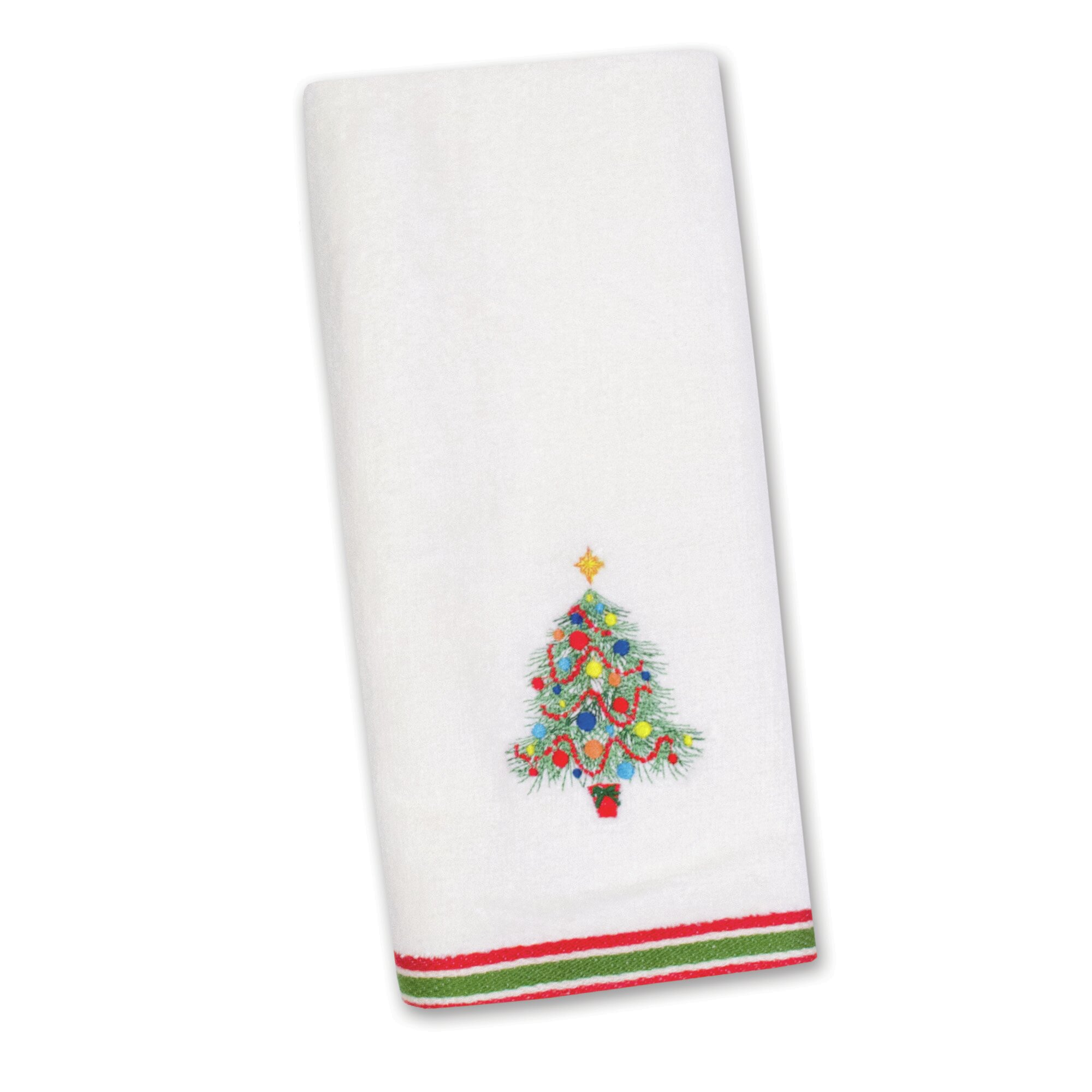 Fiesta Christmas Tree Embroidered Kitchen Towel Reviews