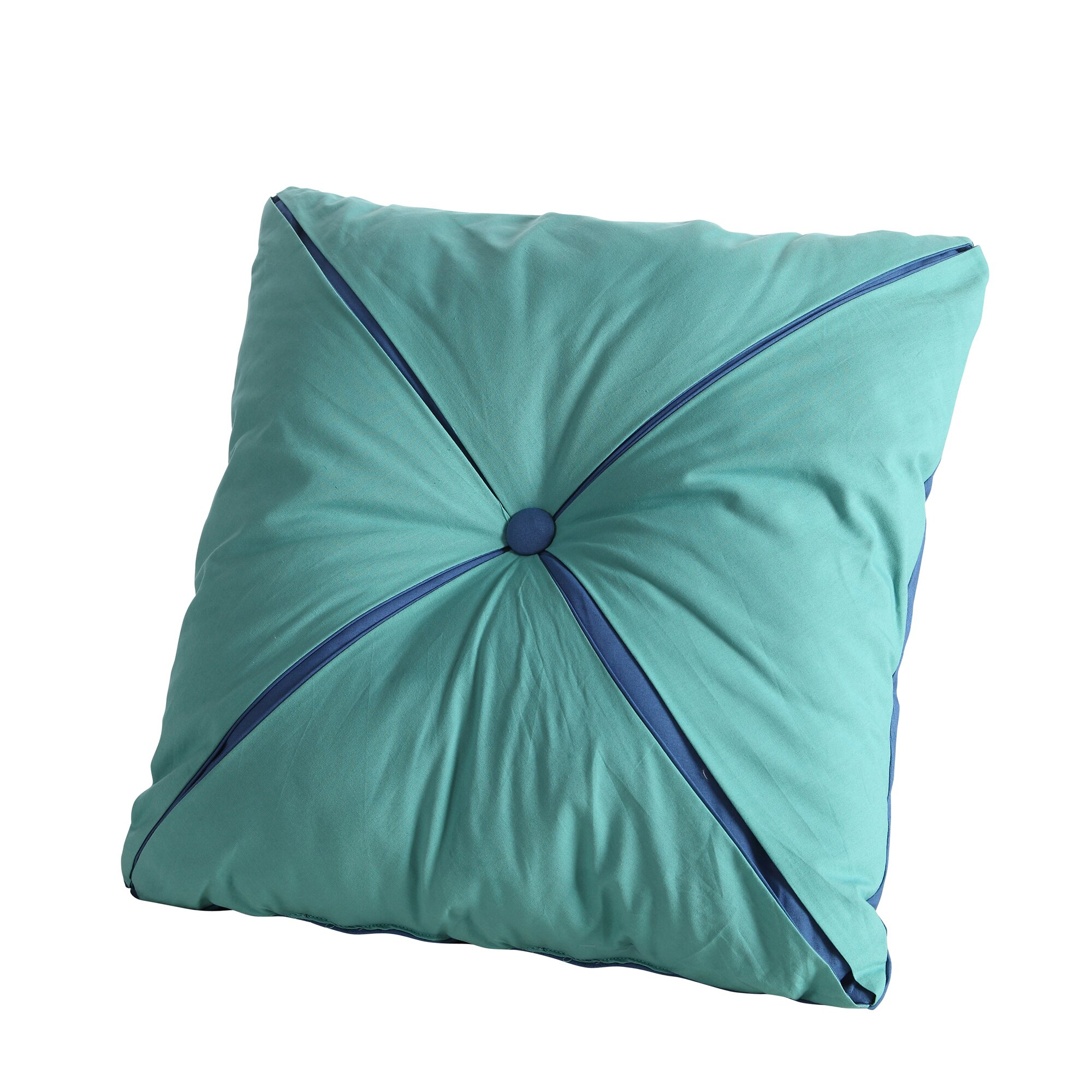 Throw Pillows With Buttons : Fiesta Square Reversible Button Accent Throw Pillow & Reviews Wayfair