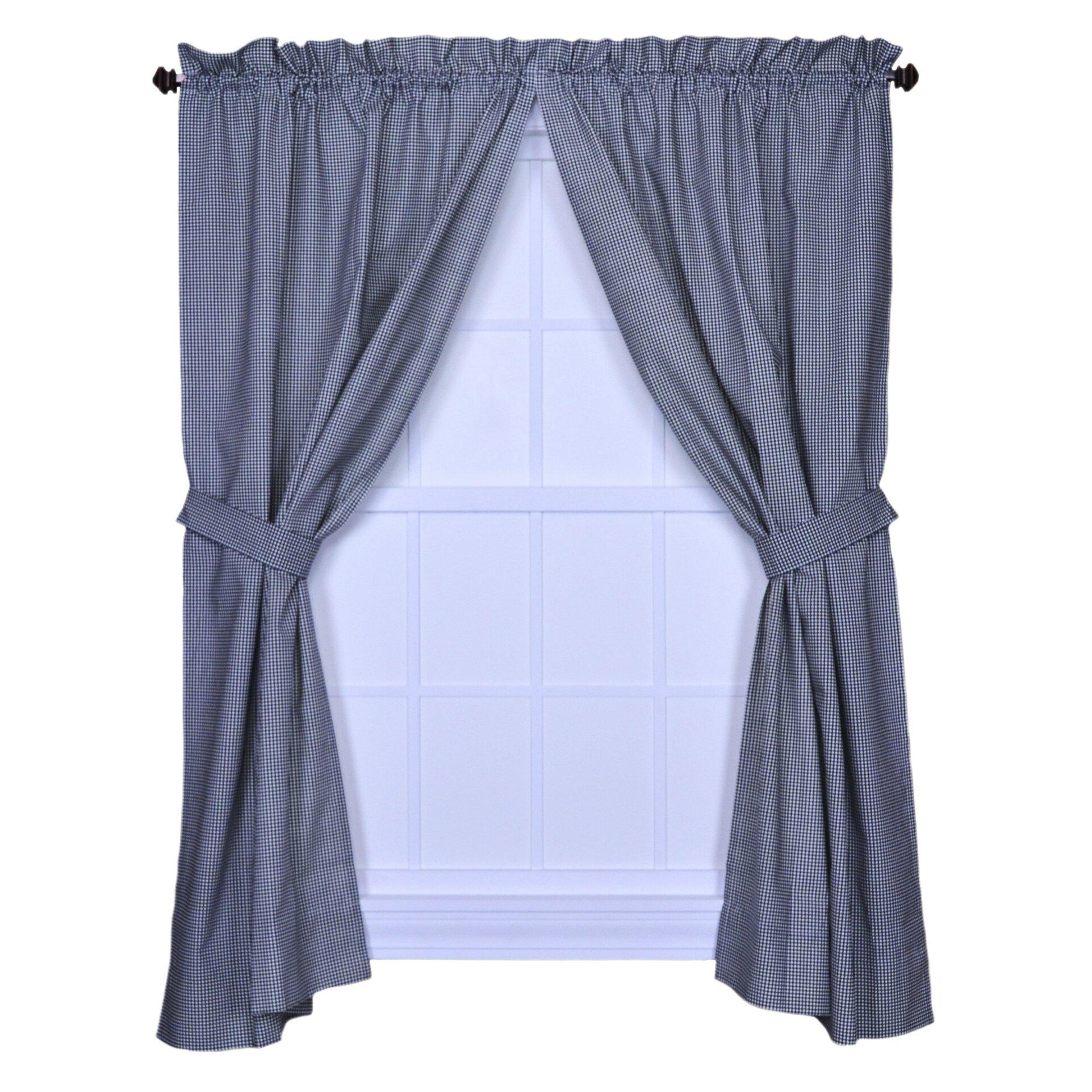 Ellis Curtain Logan Gingham Check Print Tailored Curtain Panels Reviews Wayfair
