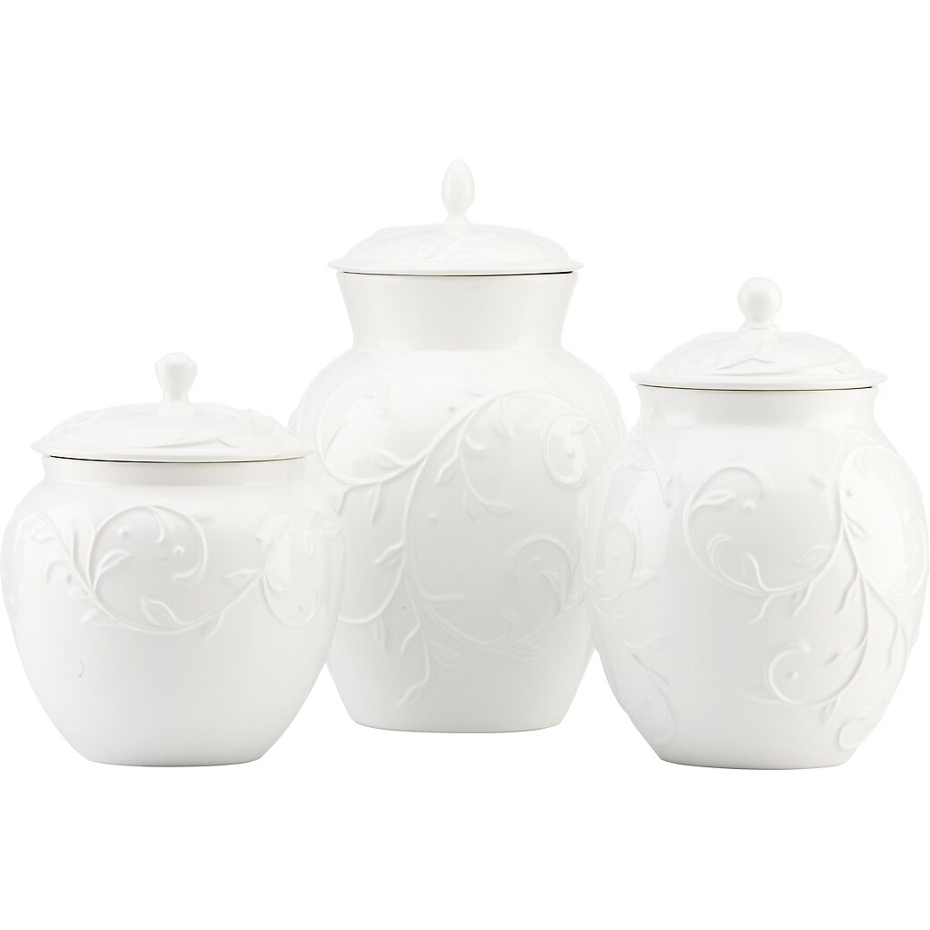 Lenox Opal Innocence 3 Piece Carved Canister Set Amp Reviews