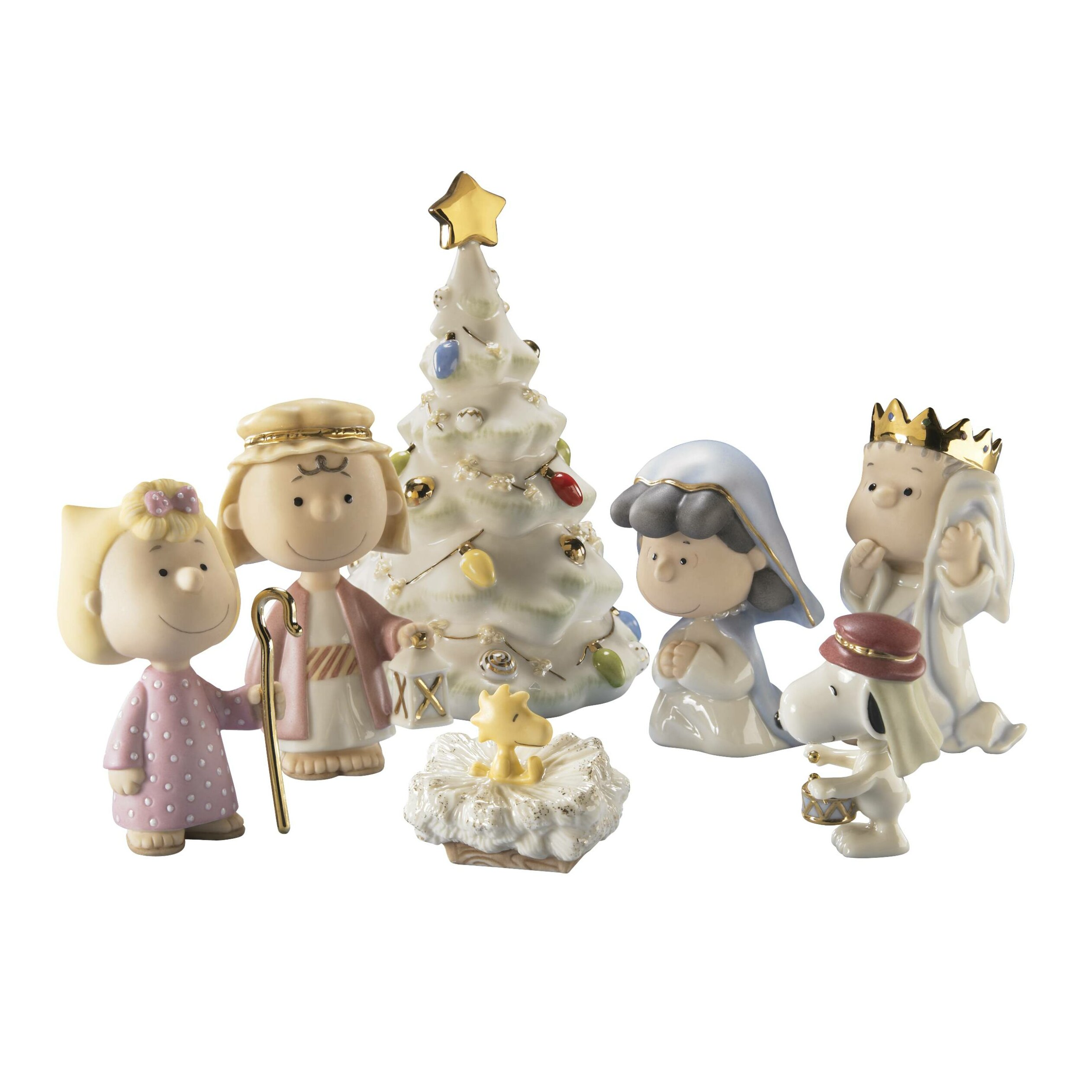 Lenox peanuts the christmas pageant figurine set by
