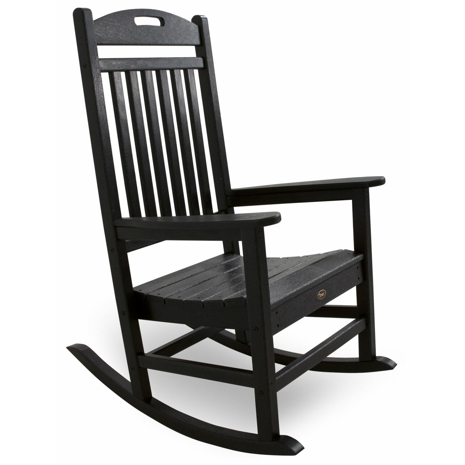Polywood yacht club rocking chair reviews wayfair - Rocking chair de jardin ...
