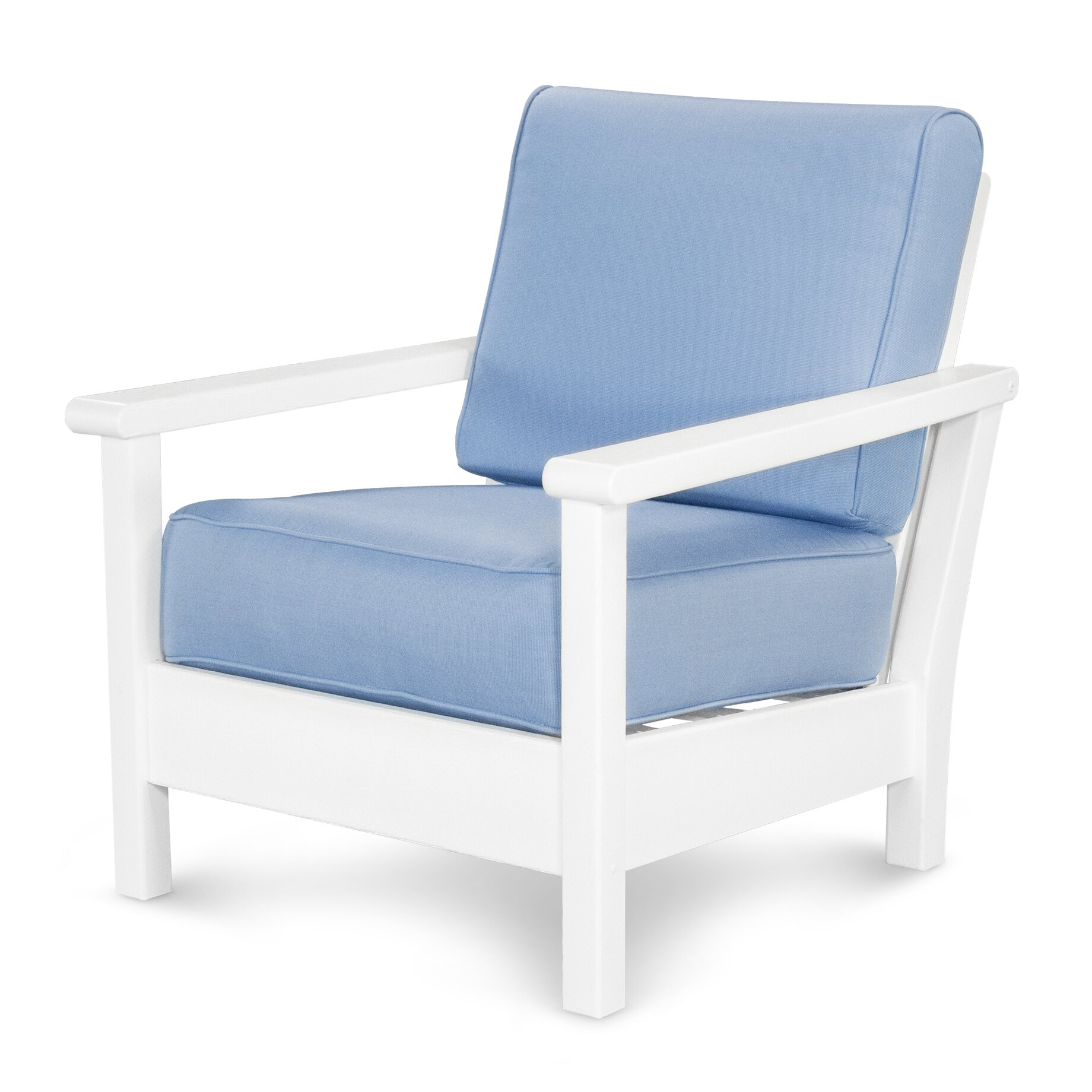 Polywood Harbour Deep Seating Chair With Cushion Reviews Wayfair