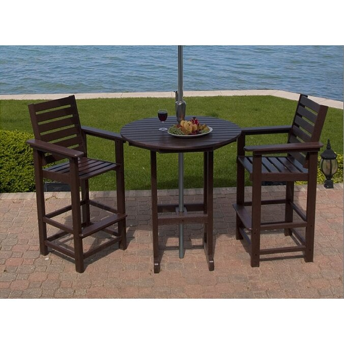 Polywood 174 Captain 3 Piece Bar Set Amp Reviews Wayfair