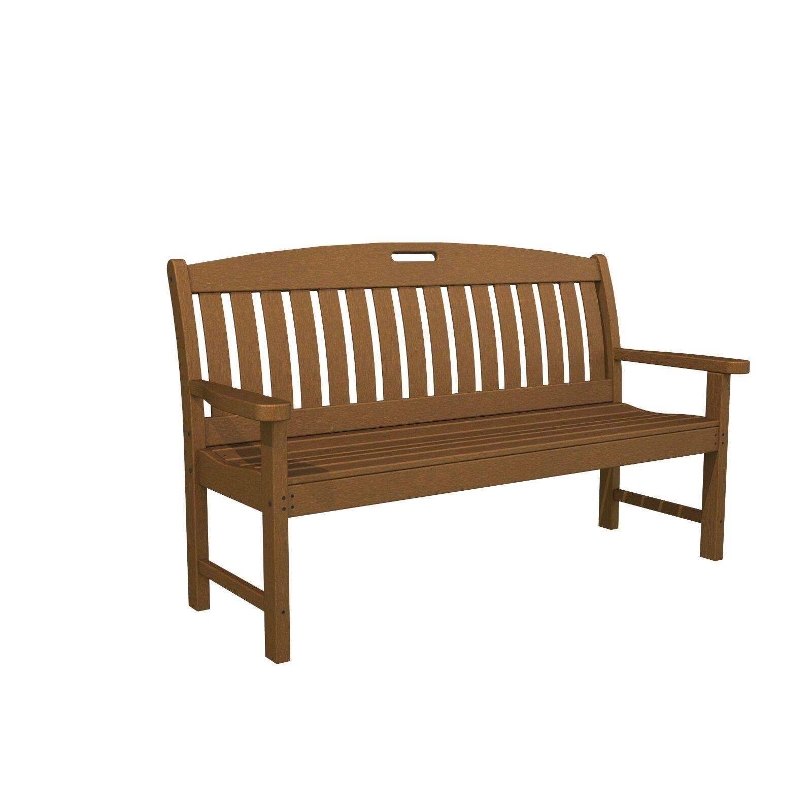 Polywood Nautical Plastic Garden Bench Reviews Wayfair