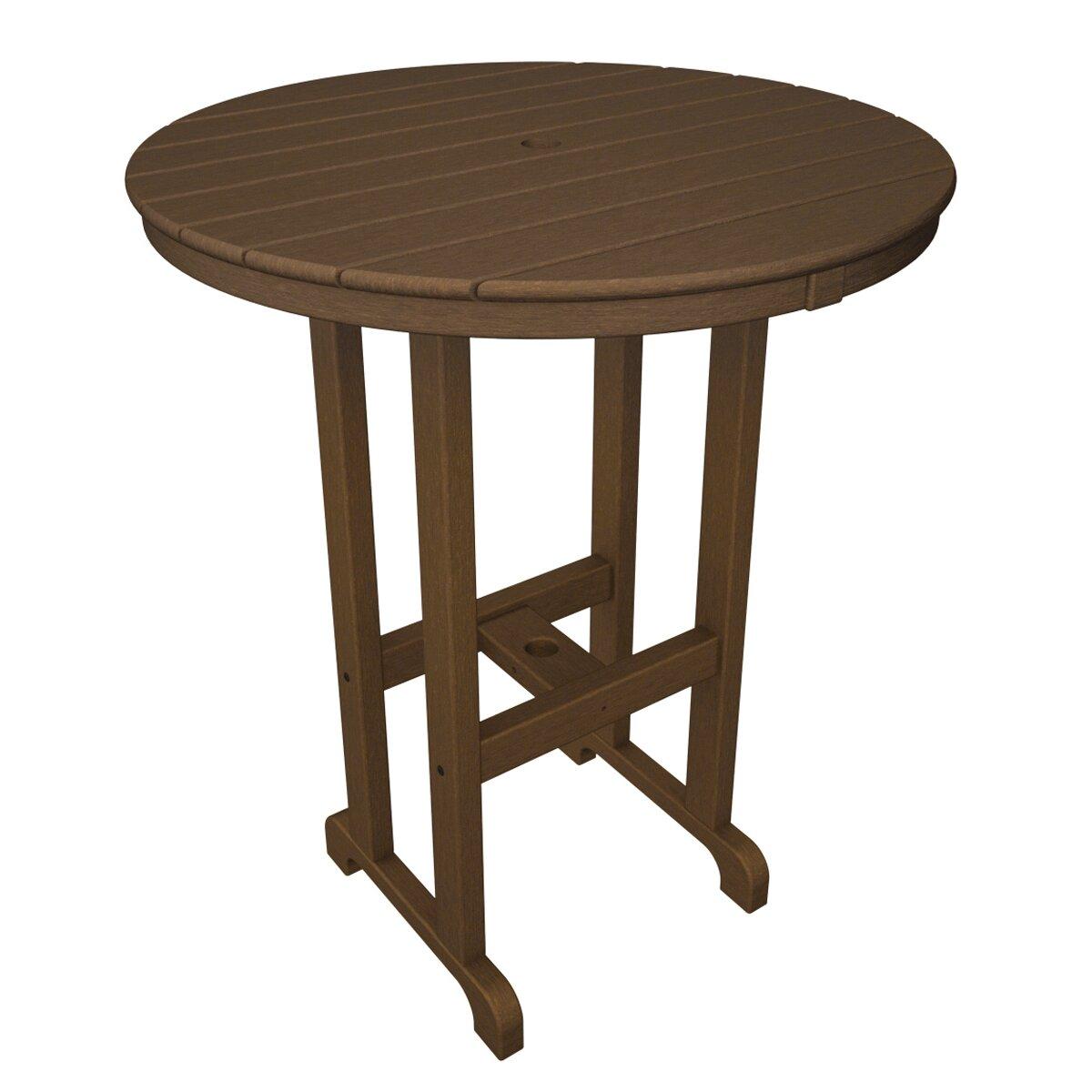 Polywood Round Outdoor Bar Table Reviews Wayfair