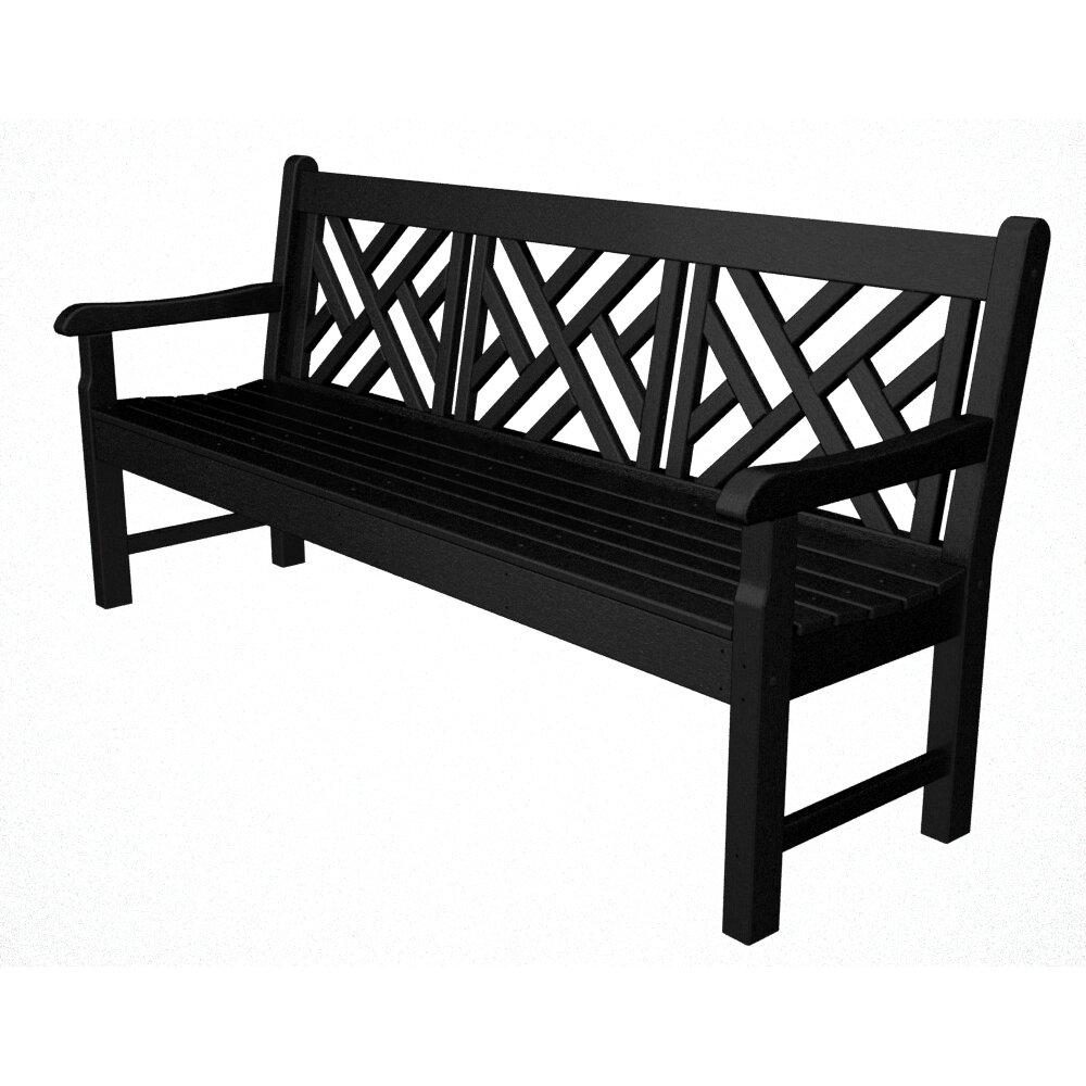 Polywood Rockford 72 Plastic Garden Bench Reviews Wayfair