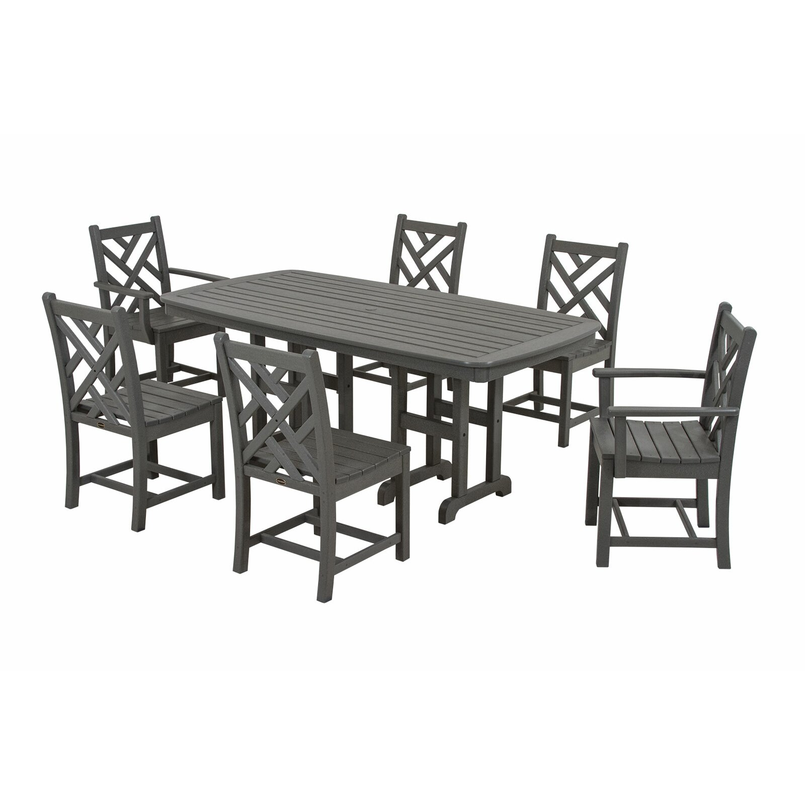 Polywood Chippendale 7 Piece Dining Set Reviews Wayfair