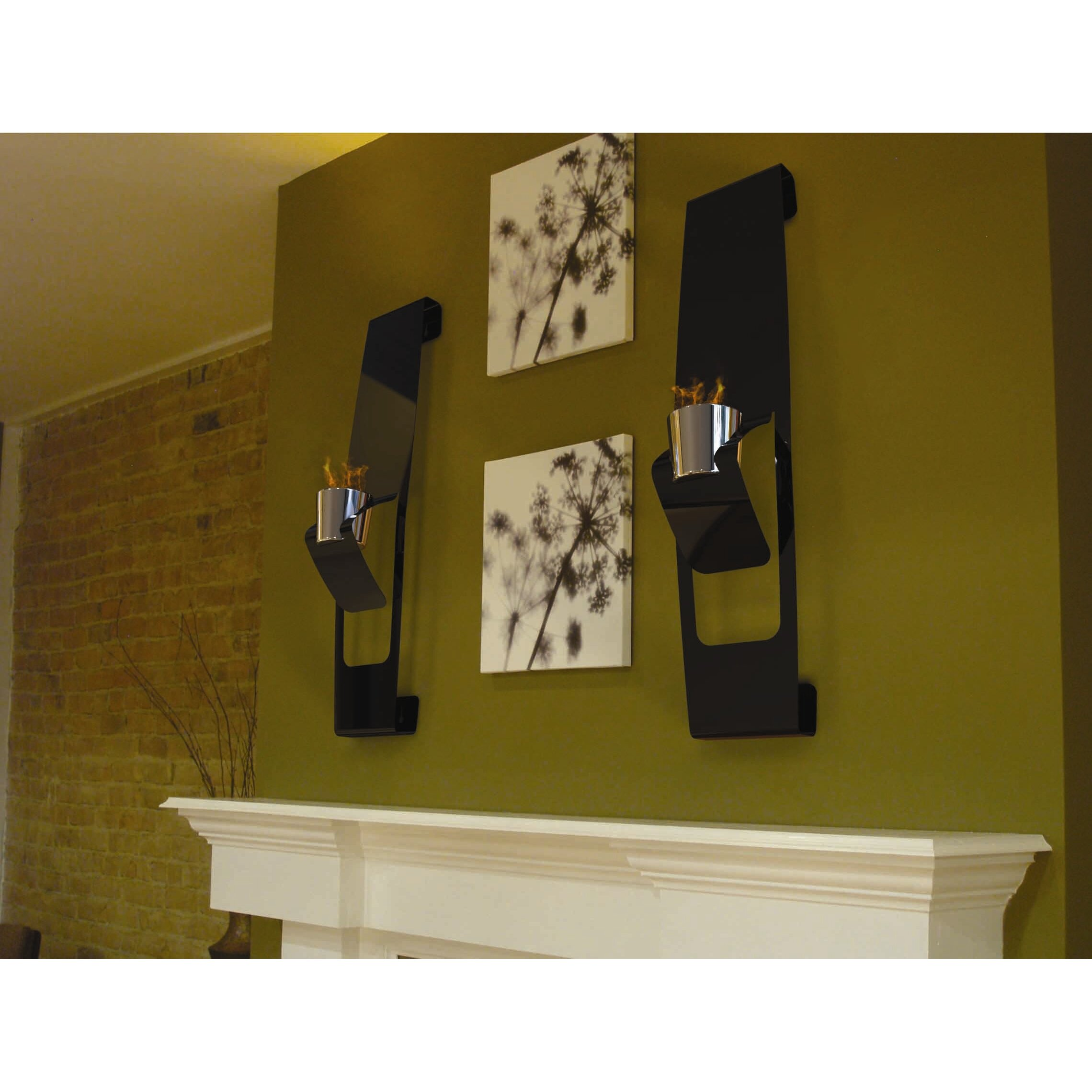 Decorpro Ark Wall Mounted Fireplace Amp Reviews Wayfair