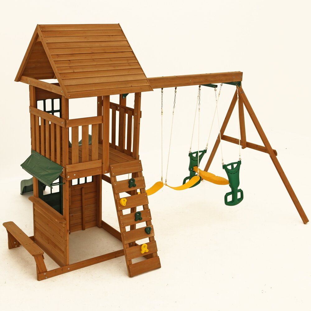 Big Backyard Windale Wooden Swing Set Amp Reviews Wayfair