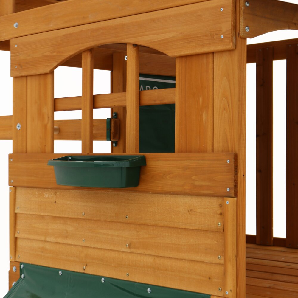 Big Backyard Ridgeview Deluxe Clubhouse Wooden Swing Set ...